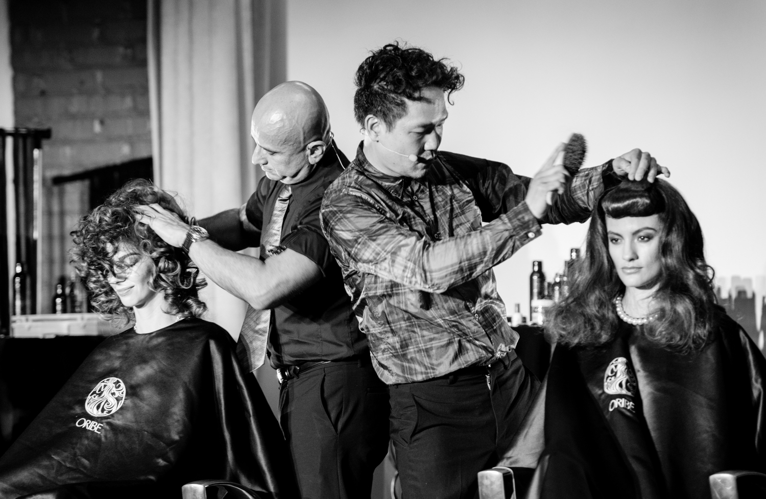 Image of Oribe Educatiors Louis Orozco and Kien Hoang | Oribe On The Road - Chicago