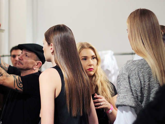 HOUGHTON | NEW YORK FASHION WEEK | RTW SPRING 2015  Key Hair: Adam Markarian for Brian Bantry  Photo courtesy of Oribe.com