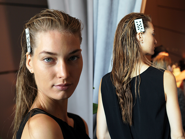 ECKHAUS LATTA | BACKSTAGE NYFW | SS 2015 | ORIBE HAIR CARE   Key Hair: Ramona Eschbach for Jed Root. Hair: Oribe Hair Care Team. Yanin Colmenero | Umbrella Salon, Roz Corpuz | Umbrella Salon, Jan-Michael Macutay | Umbrella Salon. Special Thanks to Talia Thomas of Oribe Hair Care.   Photos by: Oribe.com