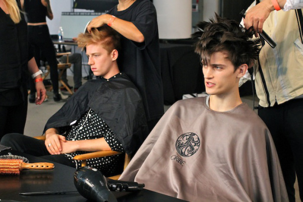 PATRIK ERVELL | BACKSTAGE NYFW | RTW SPRING 2015 | VEETRAVELS  Photos by Andrew Villagomez  Key Hair: Holli Smith for Total. Hair: Oribe Hair Care Team. Kien Hoang for Oribe Hair Care. Nathan Nguyen for Umbrella Salon.  Special Thanks to Talia Thomas of Oribe Hair Care.