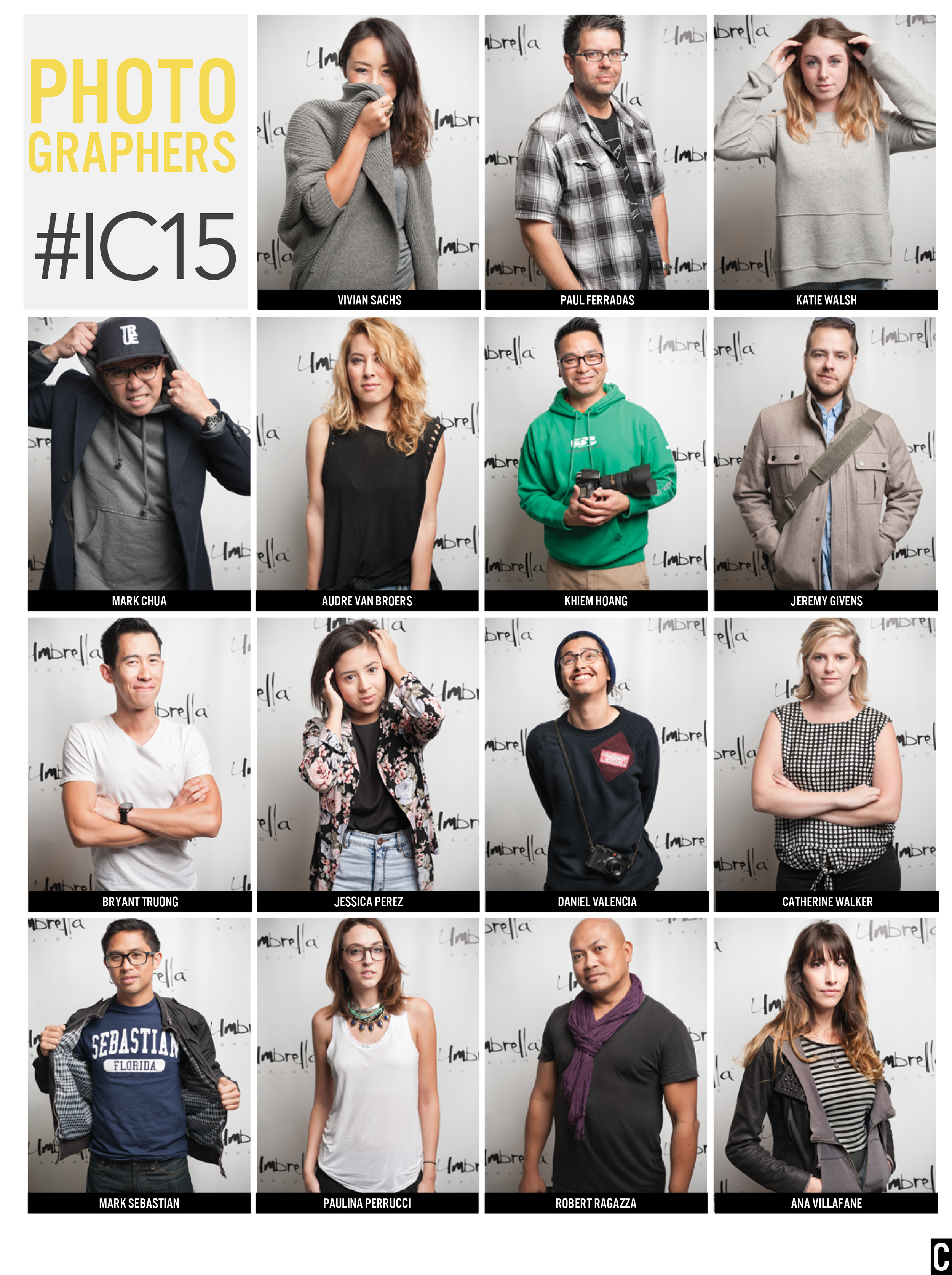 #IC15 PHOTOGRAPHERS