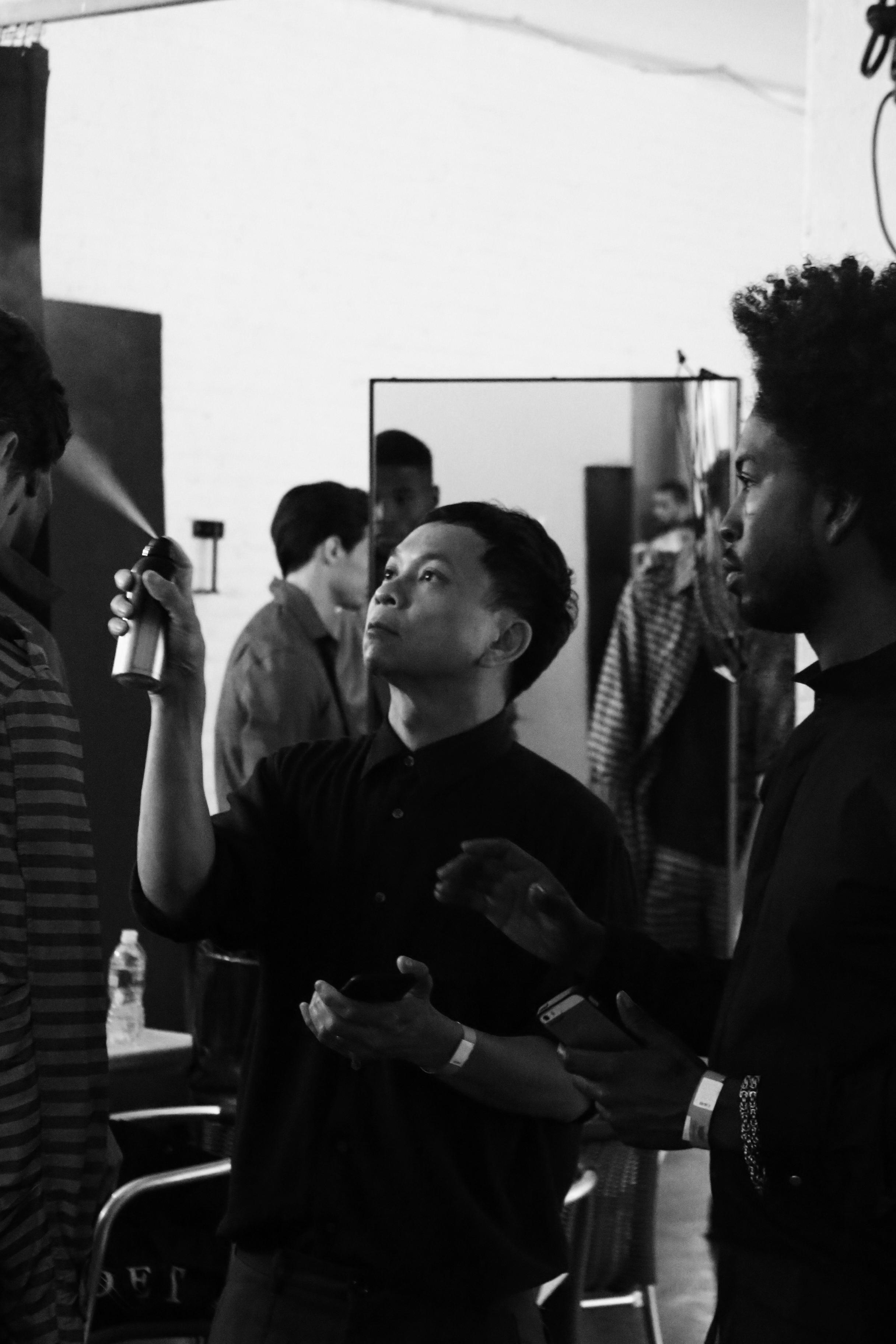 NEW YORK FASHION WEEK MENS #NYFWM   CADET   SPRING/SUMMER '16  Featuring: CADET @cadetusa //Key Hair: Nathan Nguyen @nathanlibra for Oribe Hair Care @oribe //Hair Team: Oribe Hair Care Team   Umbrella Salon @umbrellasalon @industriasuperstudio Photo by: Anthony Deeying