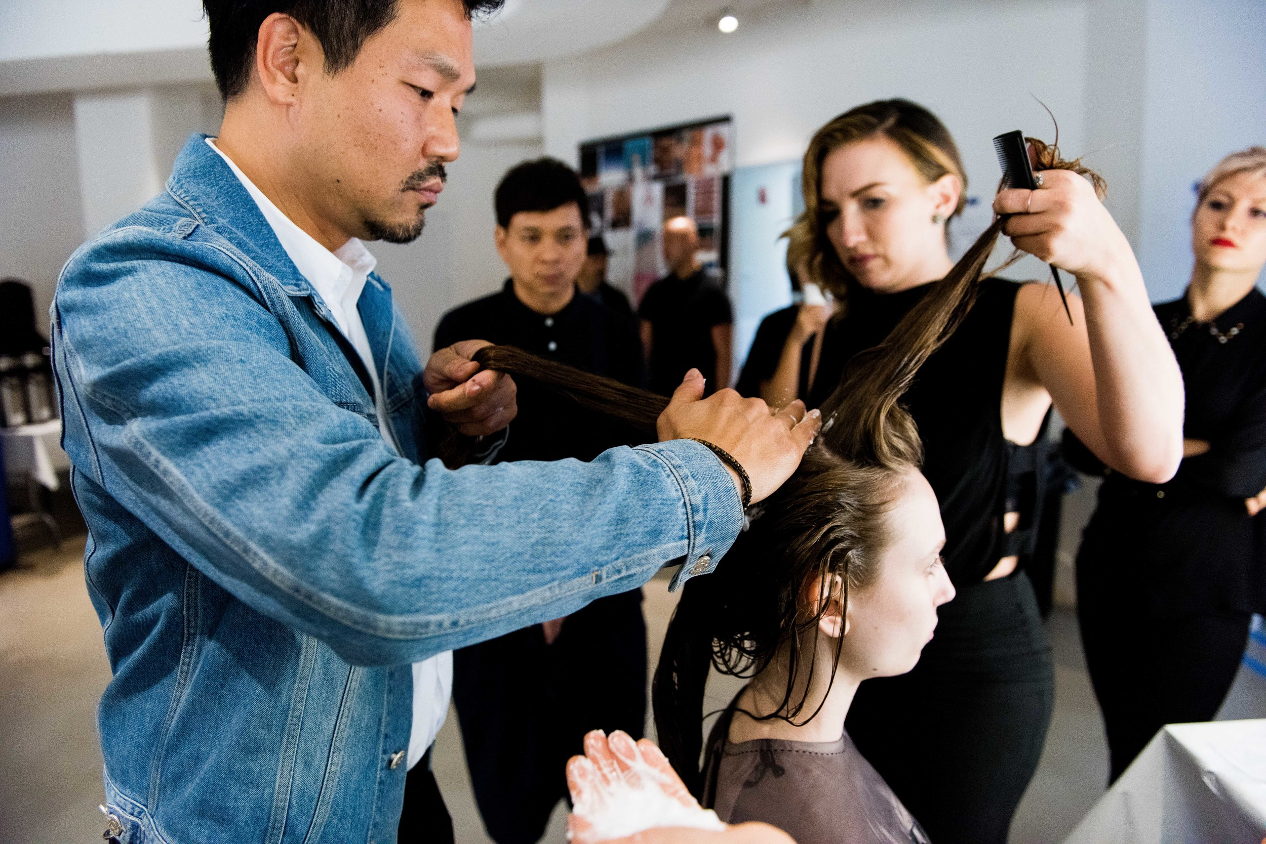 Veronica Beard #NYFW SS16 | Key Hair: Kien Hoang @kienhoang // Photos by: Luis Antonio Ruiz Photography @larufoto | @matteproject for @oribe