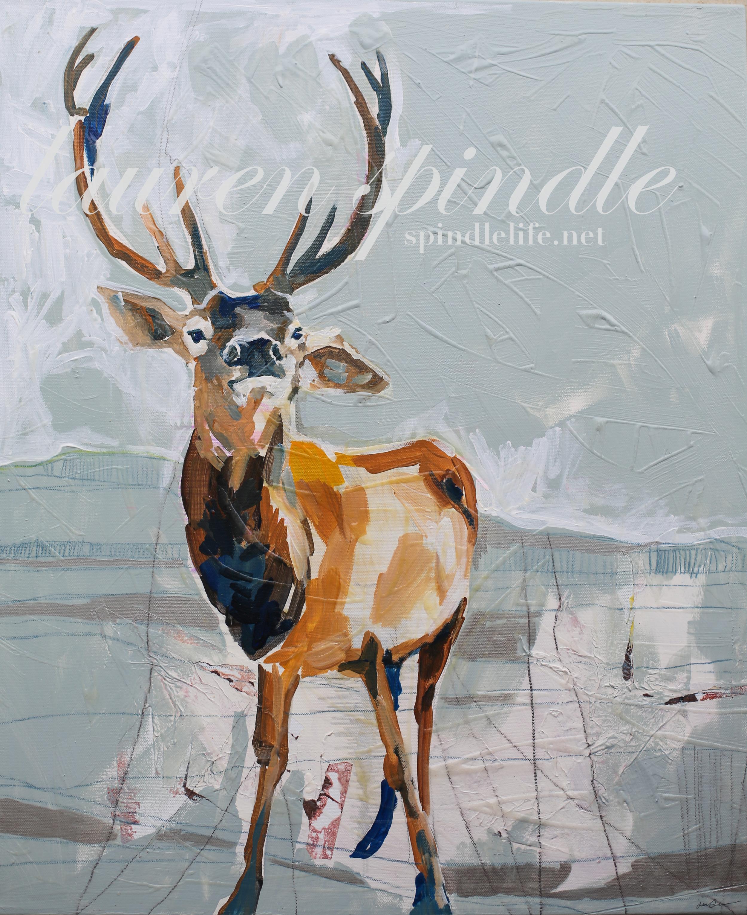 old elk artwork