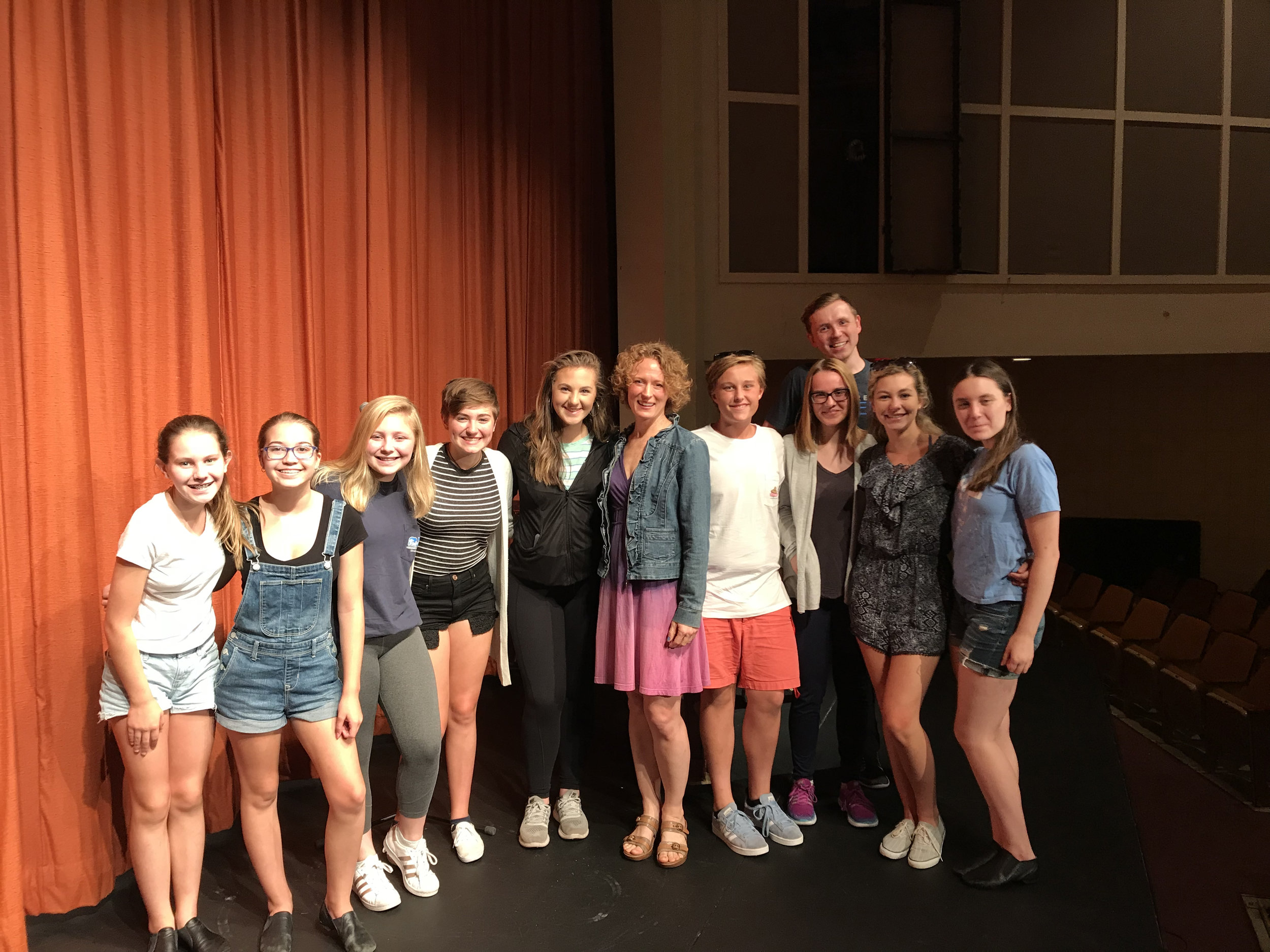 Summer at Sem students with Broadway's Nicole Van Giesen ( Dear Evan Hansen, Fun Home, The Wild Party, Cabaret ).