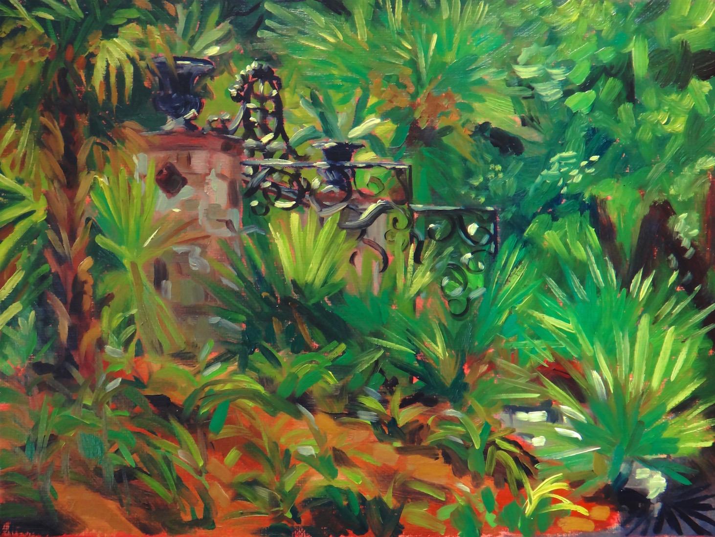 """Bright Morning"" Plein air, oil on canvas board, 2015."