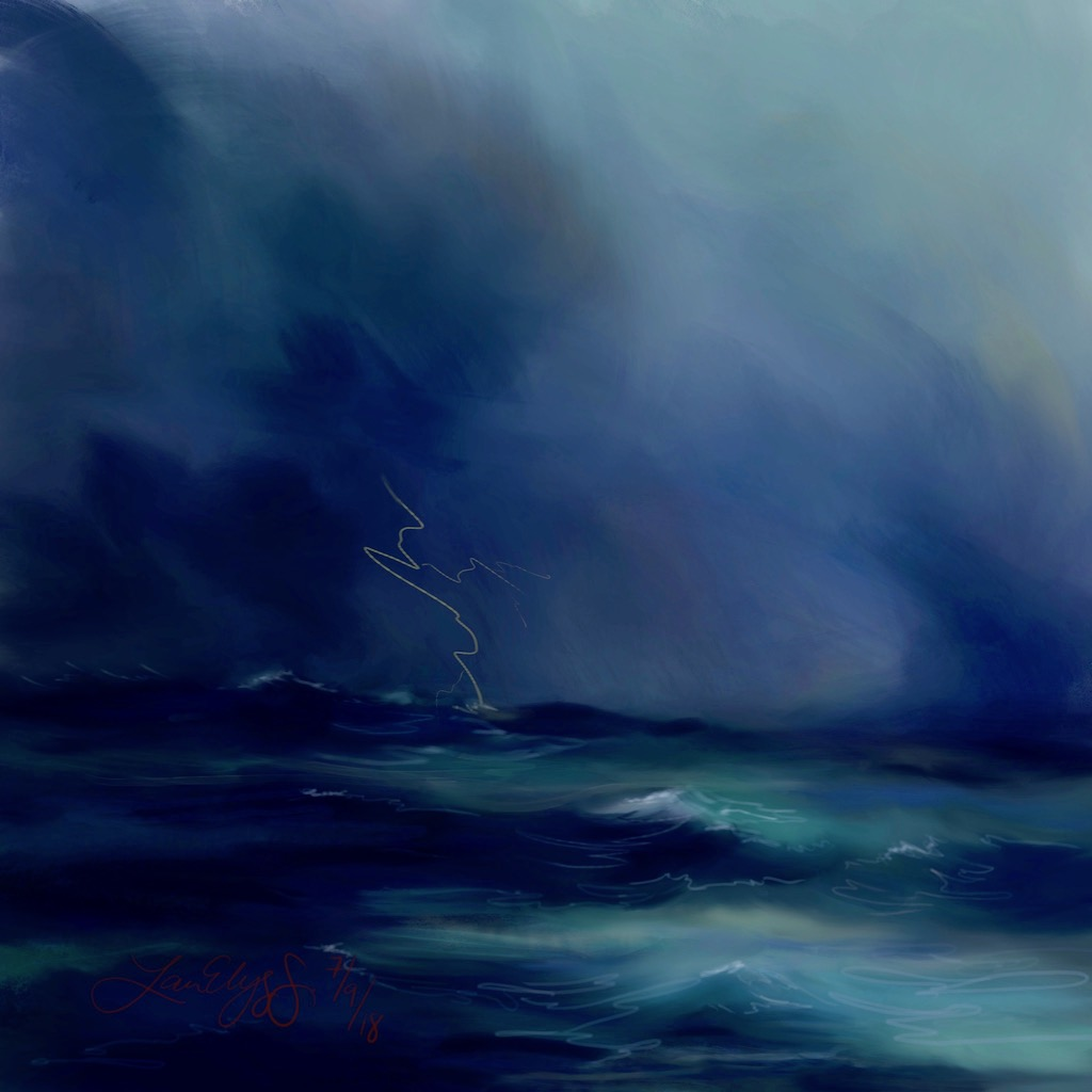 """Turner-esque Nocturne"" Digital Painting by Lauren Elyse S. 2018."