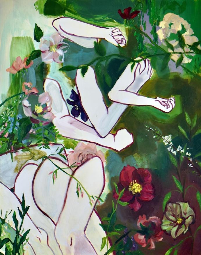 """Delirium"" acrylic & oil, 2019. Lauren Elyse S."