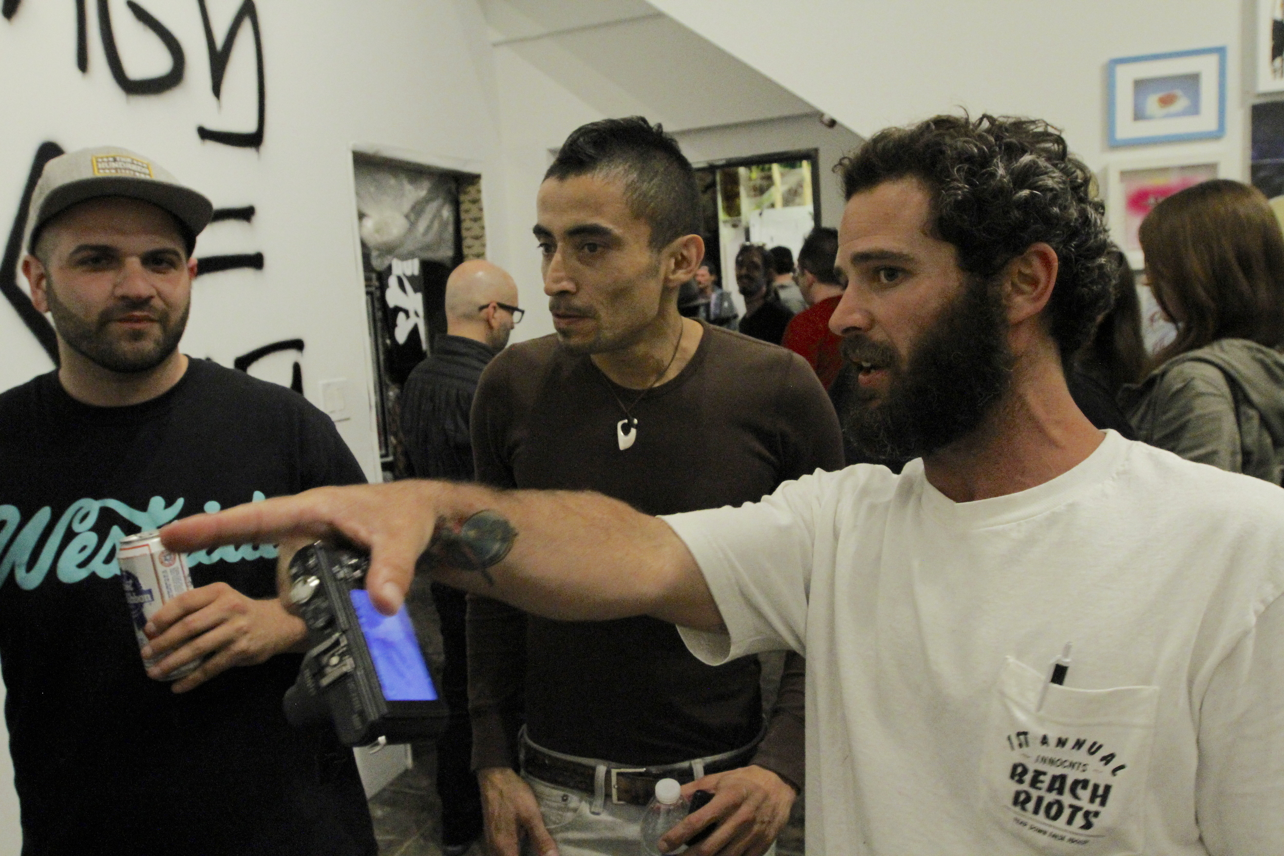 Jason Grillo, Paulo Diaz, and Sean Tully in discussion. Pic by Steven Andrew Garcia