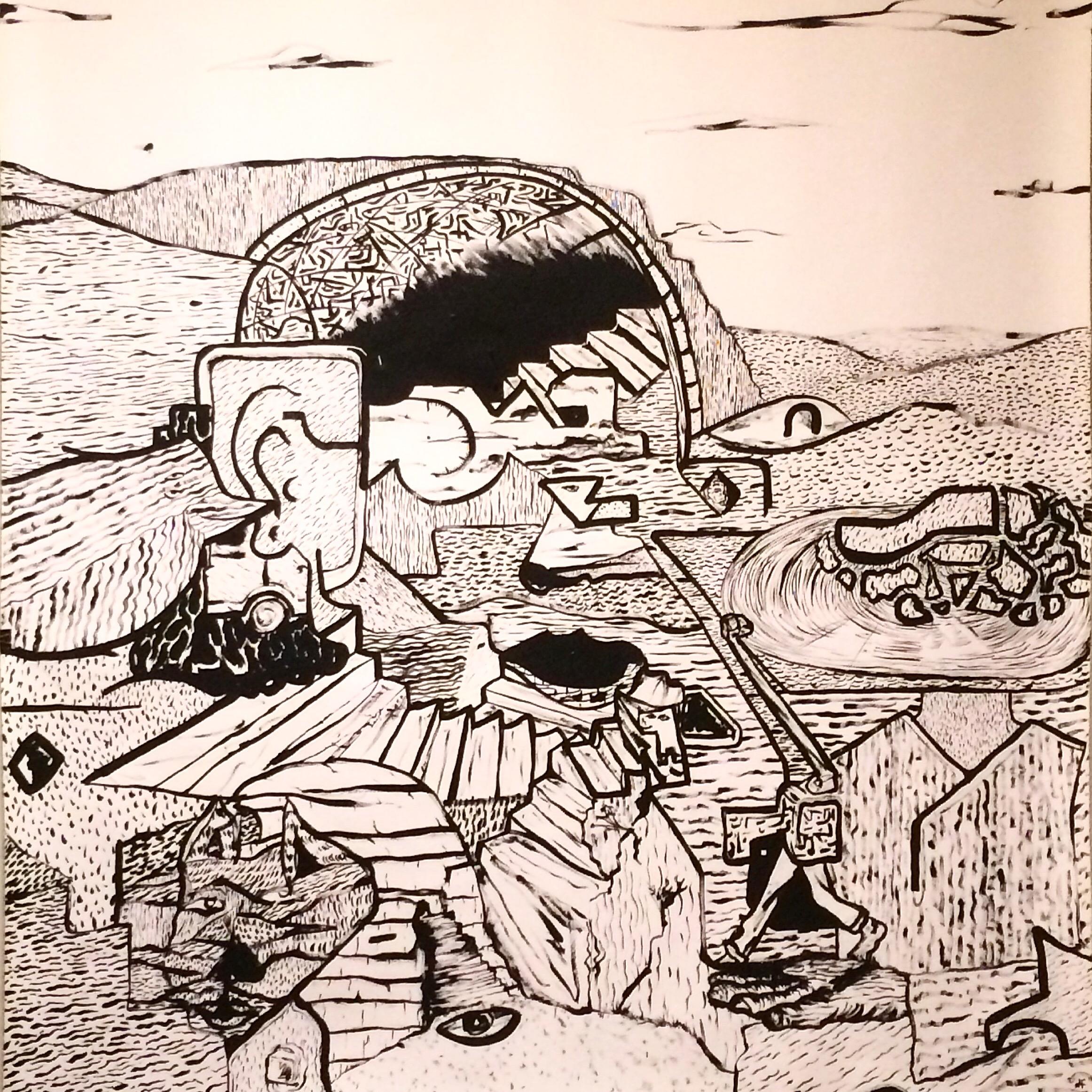 Alex Fatemi Record A Record, 2015 Acrylic on paper 48x 48 inches $480