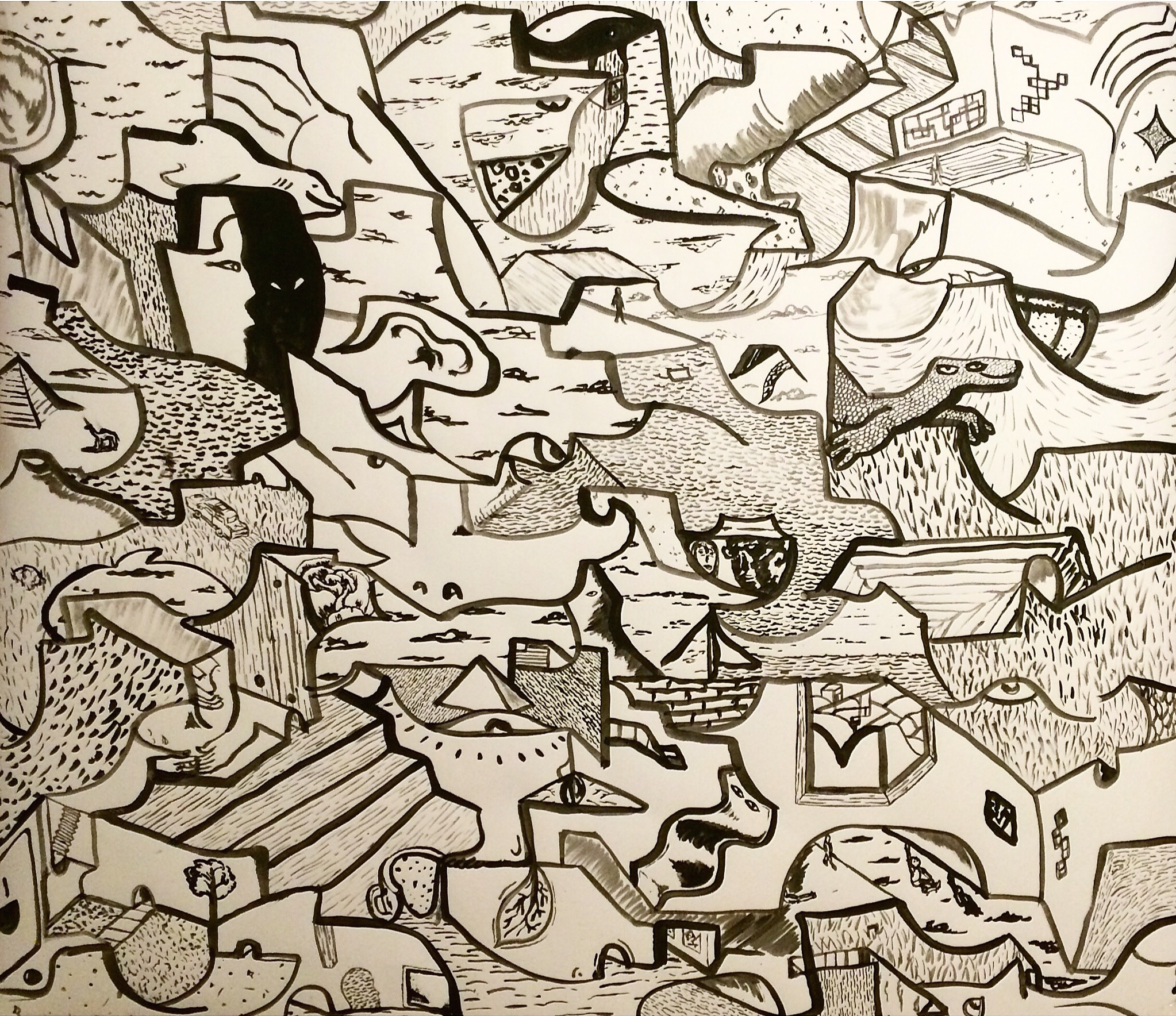 Alex Fatemi Living In The Fourth Dimension, 2015 Acylic on paper 24 x 24 inches $220