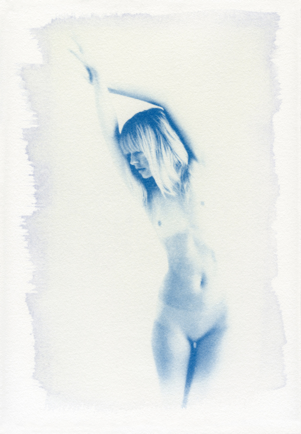 Dane Peterson // Ash // 2018 // Cyanotype on arches aquarelle // 8 x 11 inches