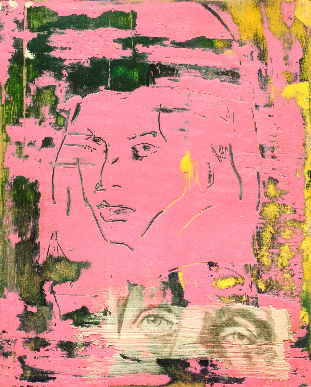 Ohad Sarfaty // Victim of Love // 2018 // Acrylic and Graphite on Panel // 13 x 10 inches