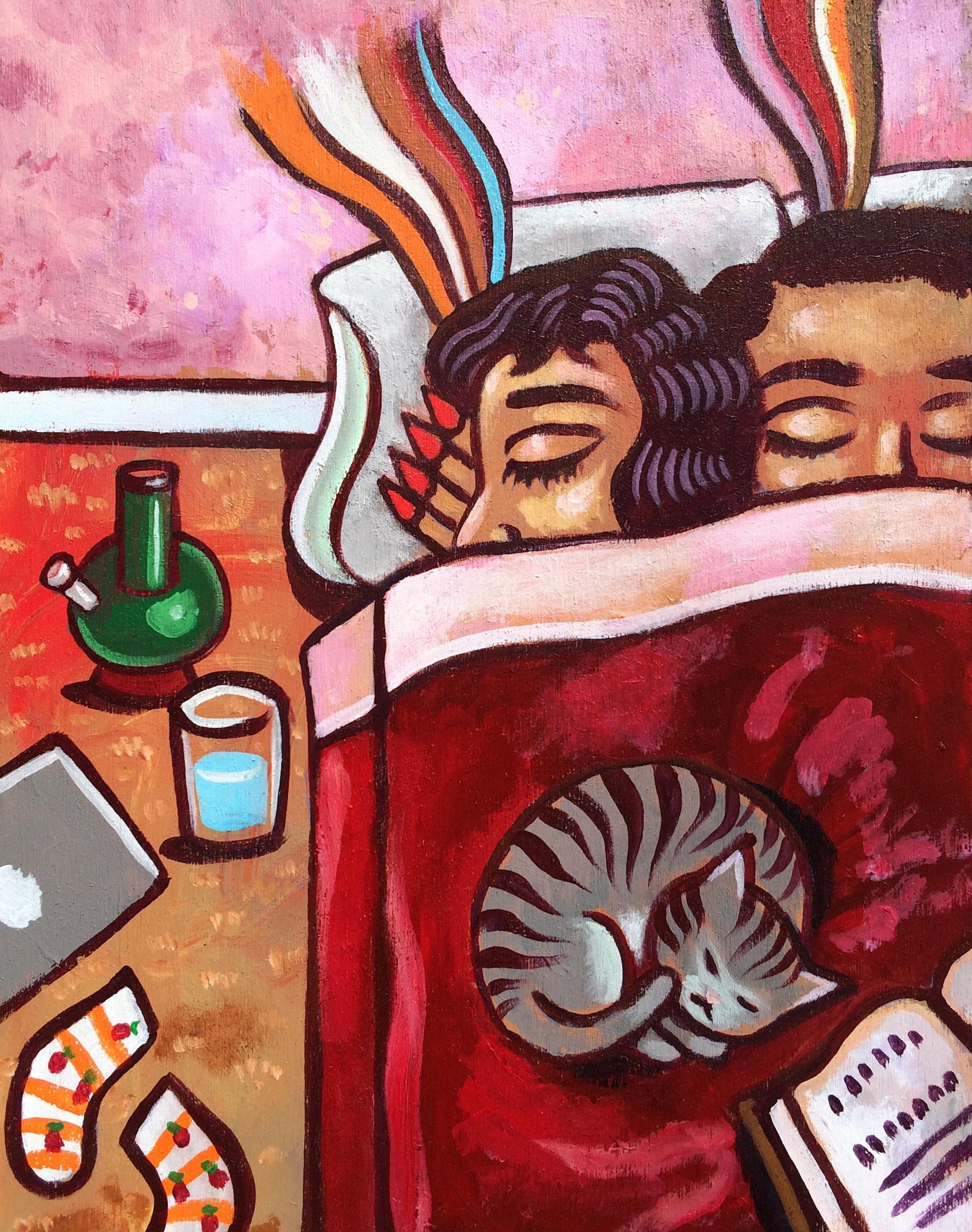 Sergio Hernandez // Pienso En Ti // 2018 // Acrylic on wood panel // 24 x 18 inches