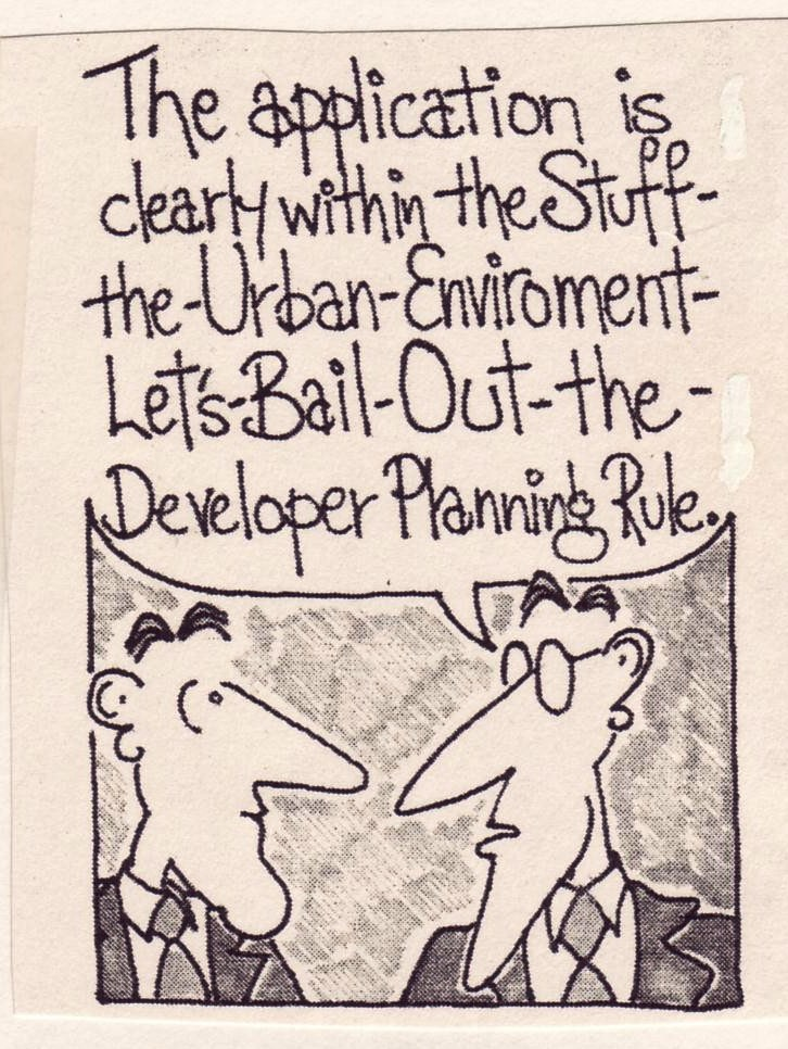 A 1991 comment by cartoonist John Lynch on official reactions to the bust in Sydney's development industry ( Australian Society  August 1991)