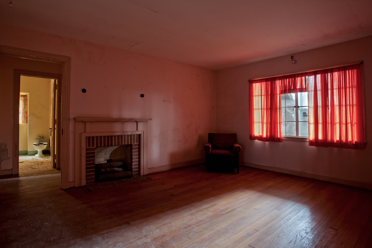 Living room of rehabilitation house.