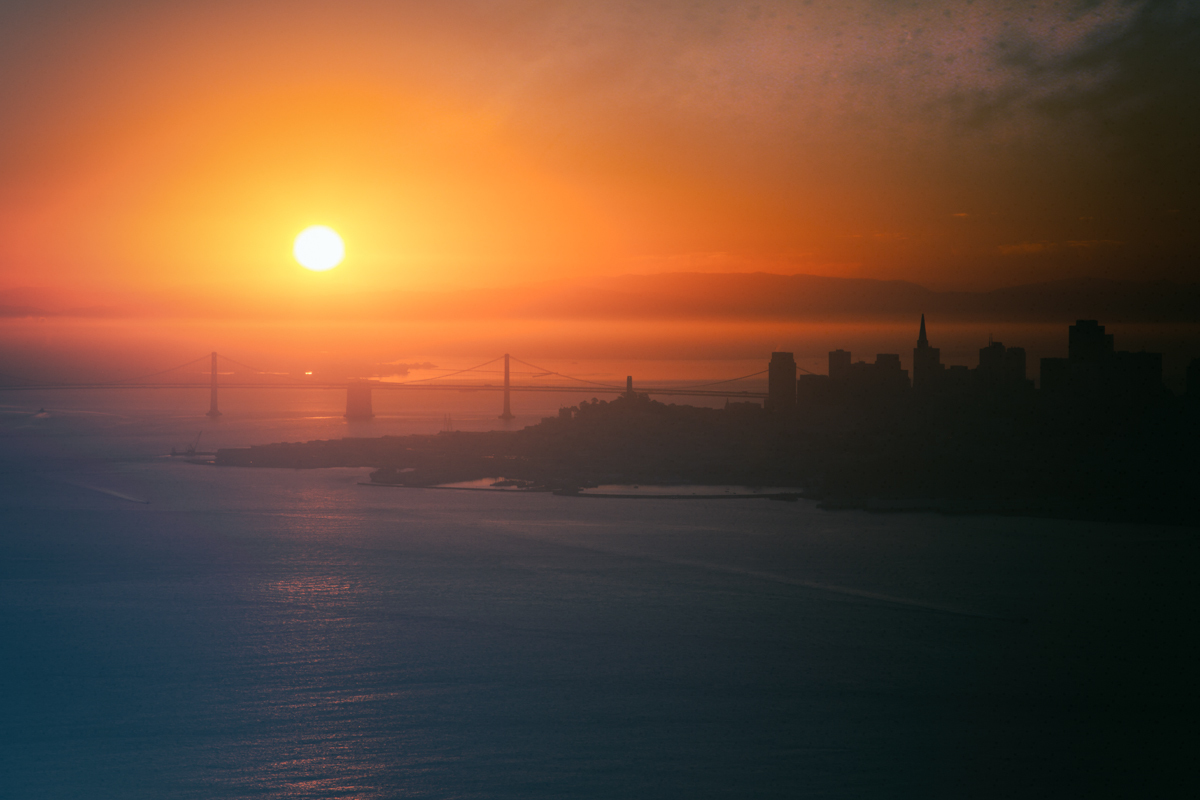 Sunrise over San Francisco, November 2013
