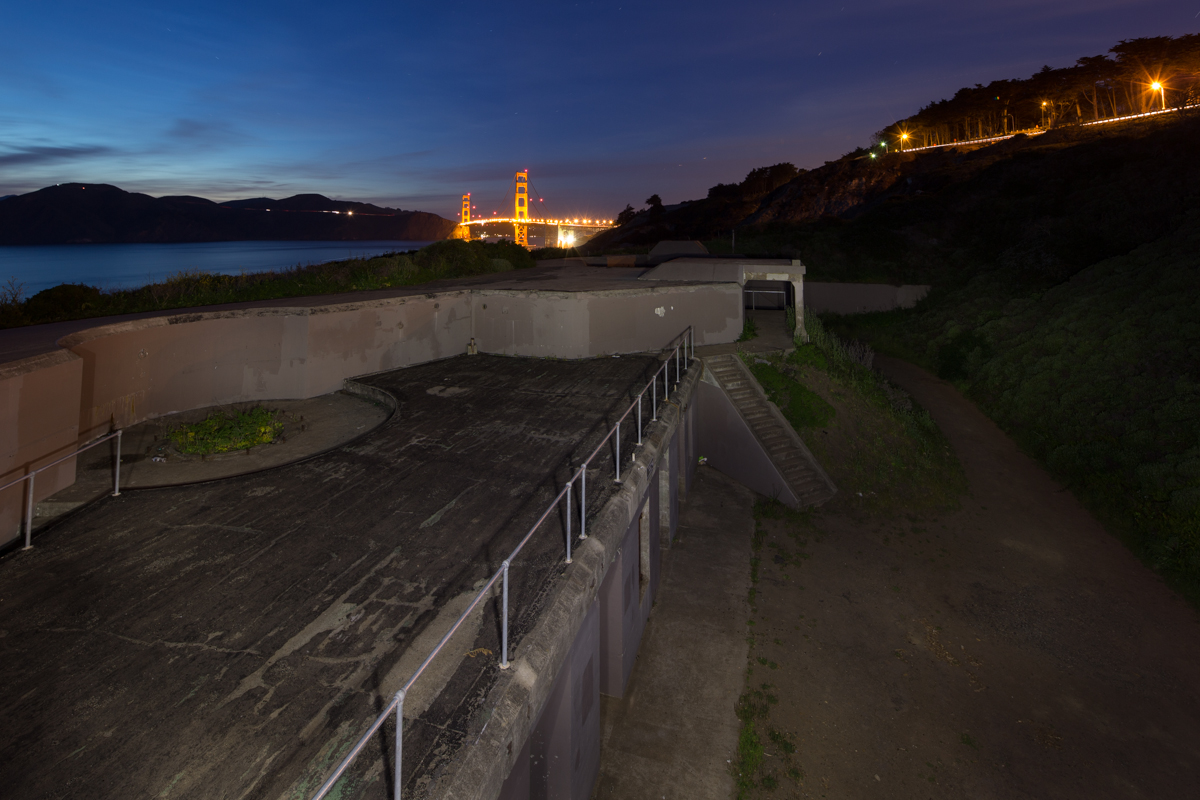 Battery Godfrey, San Francisco 118 seconds, f/9 @ ISO 200 - Flashlight was used to 'light paint' the foreground for the duration of the exposure
