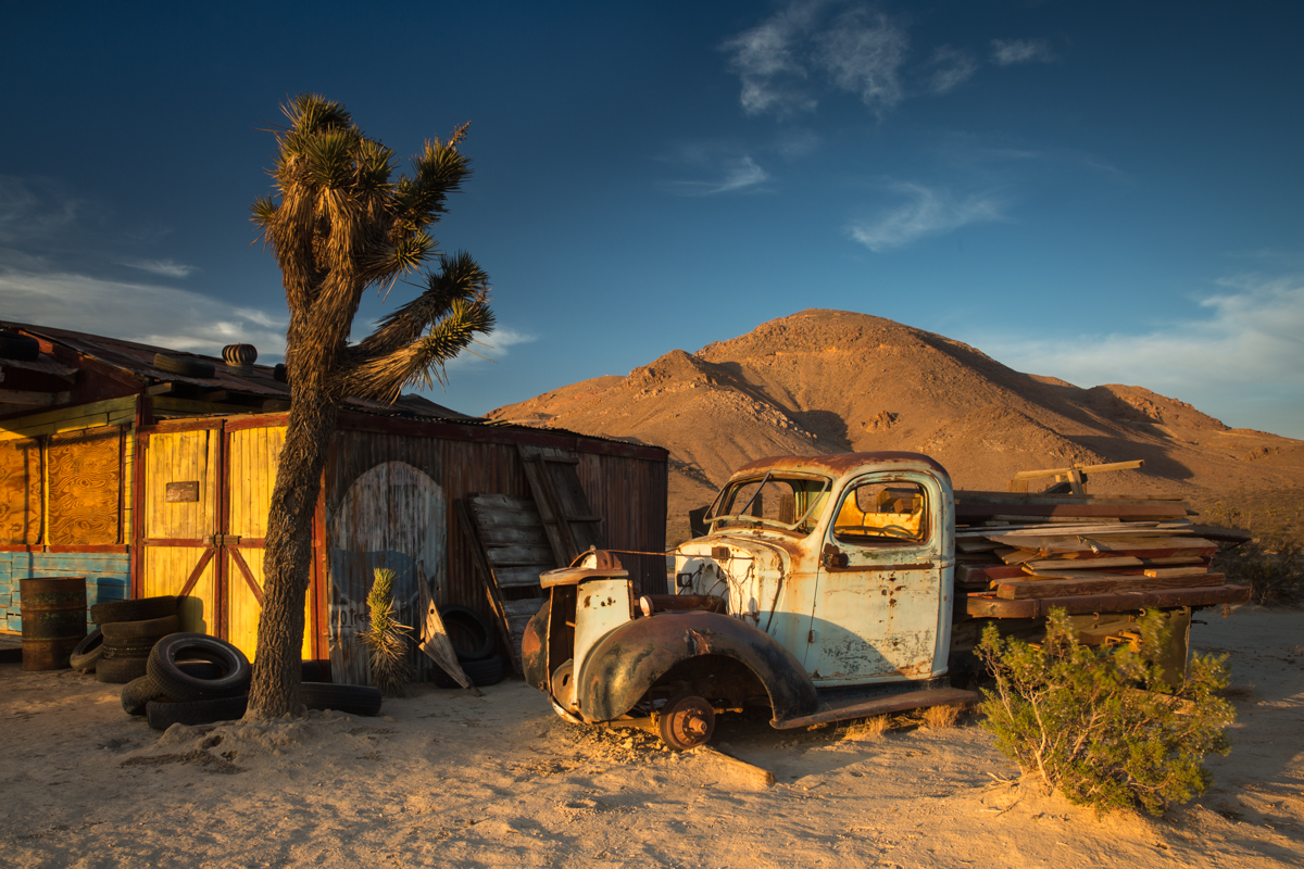 A movie set in the Mojave Desert