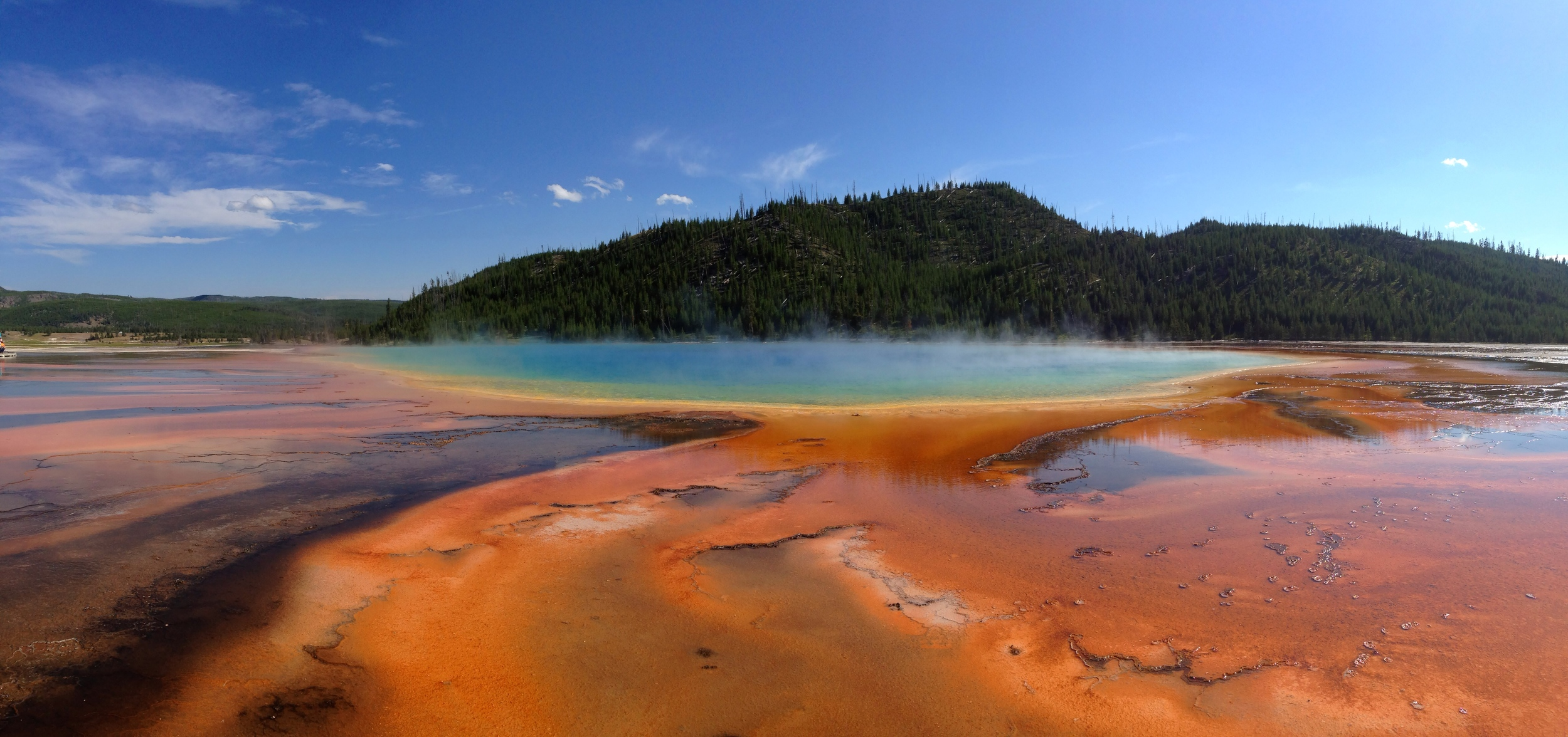 Grand Prismatic Spring, iPhone pano