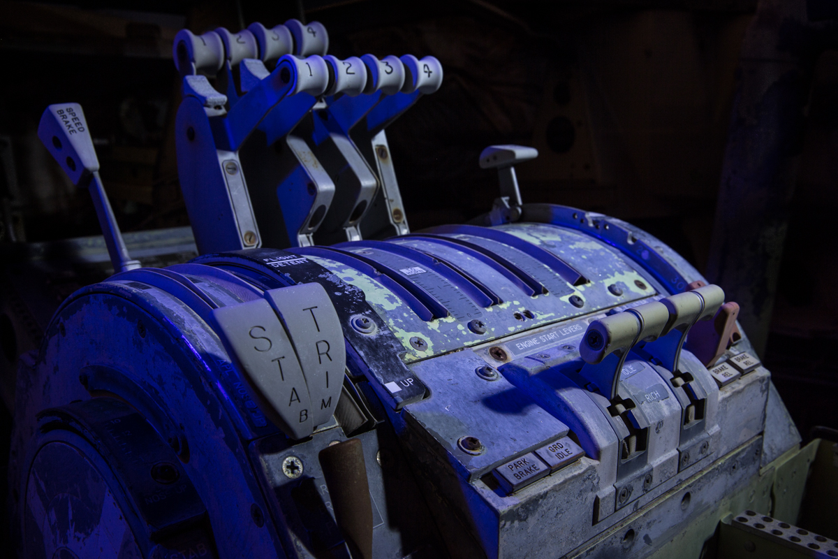 Throttle Controls  |  Aircraft Boneyard  |  Arizona