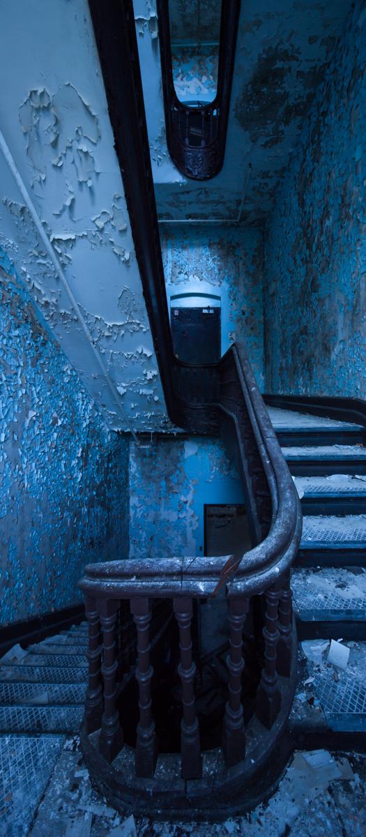 Administration Staircase  |  Hudson River State Hospital  |  New York