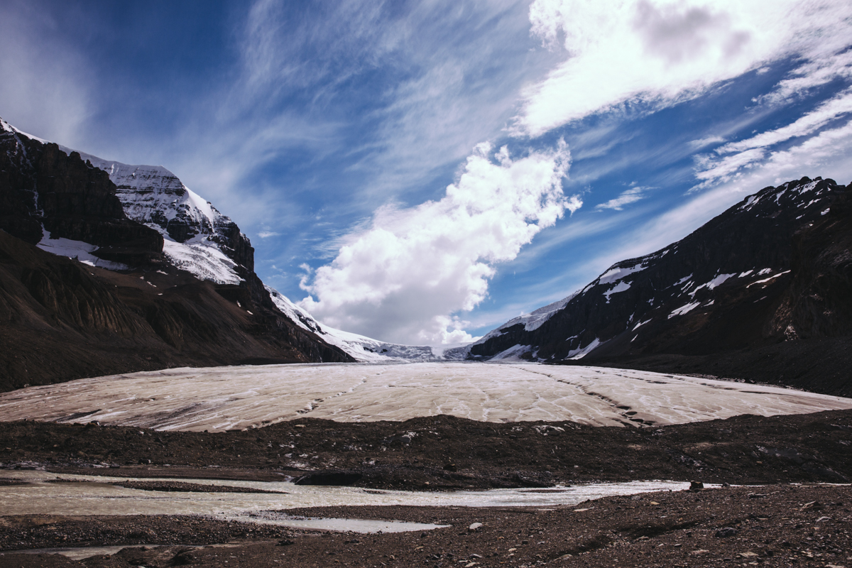 Columbia Icefields on the Icefields Parkway, Alberta