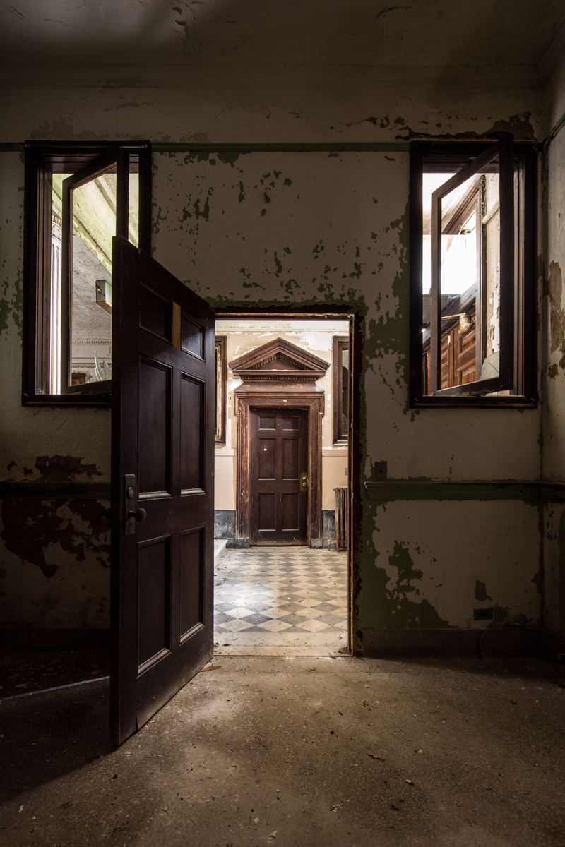Taken inside the reception lobby of the Jones Building of Central State Hospital in Georgia.
