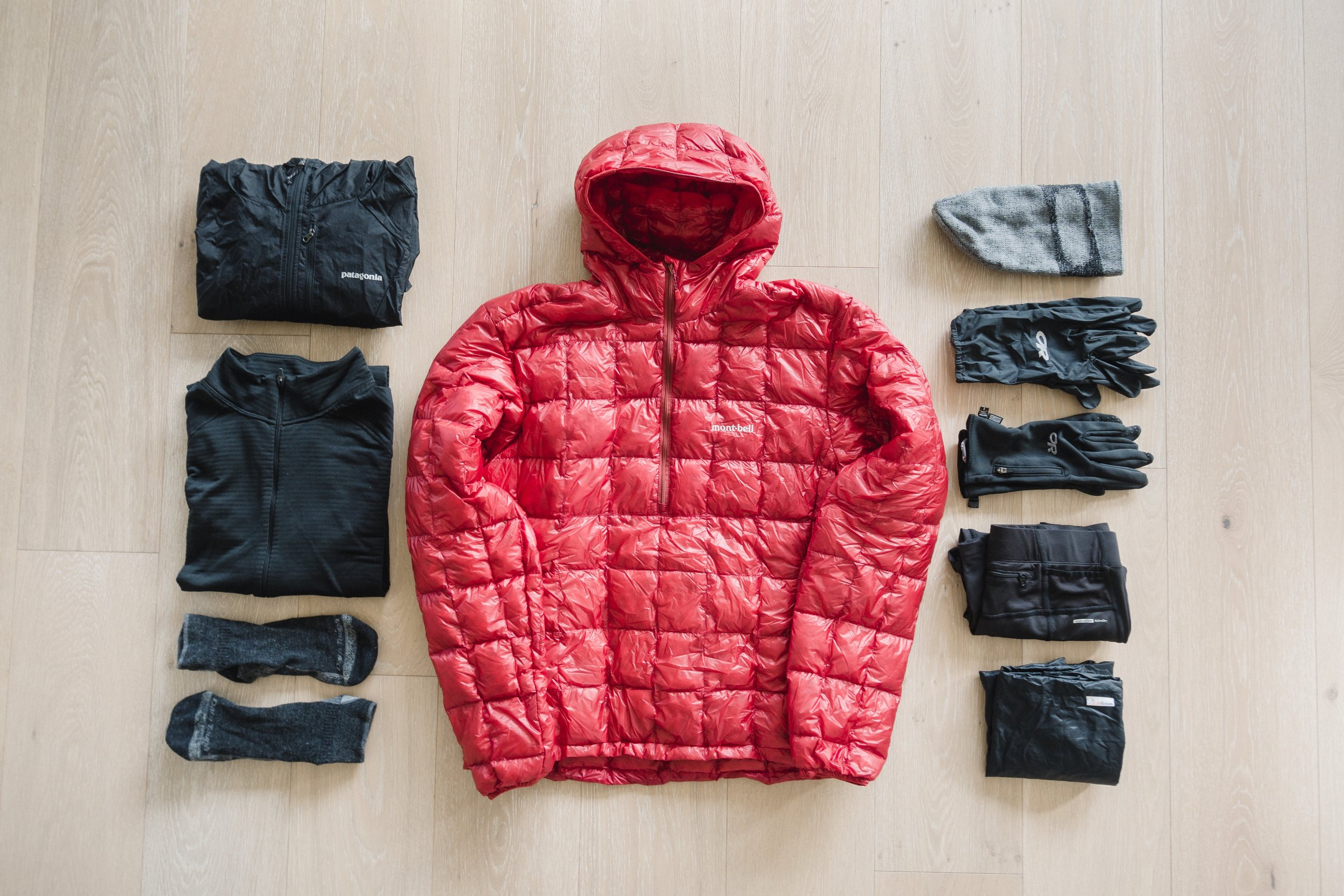 Warm clothes for PCT