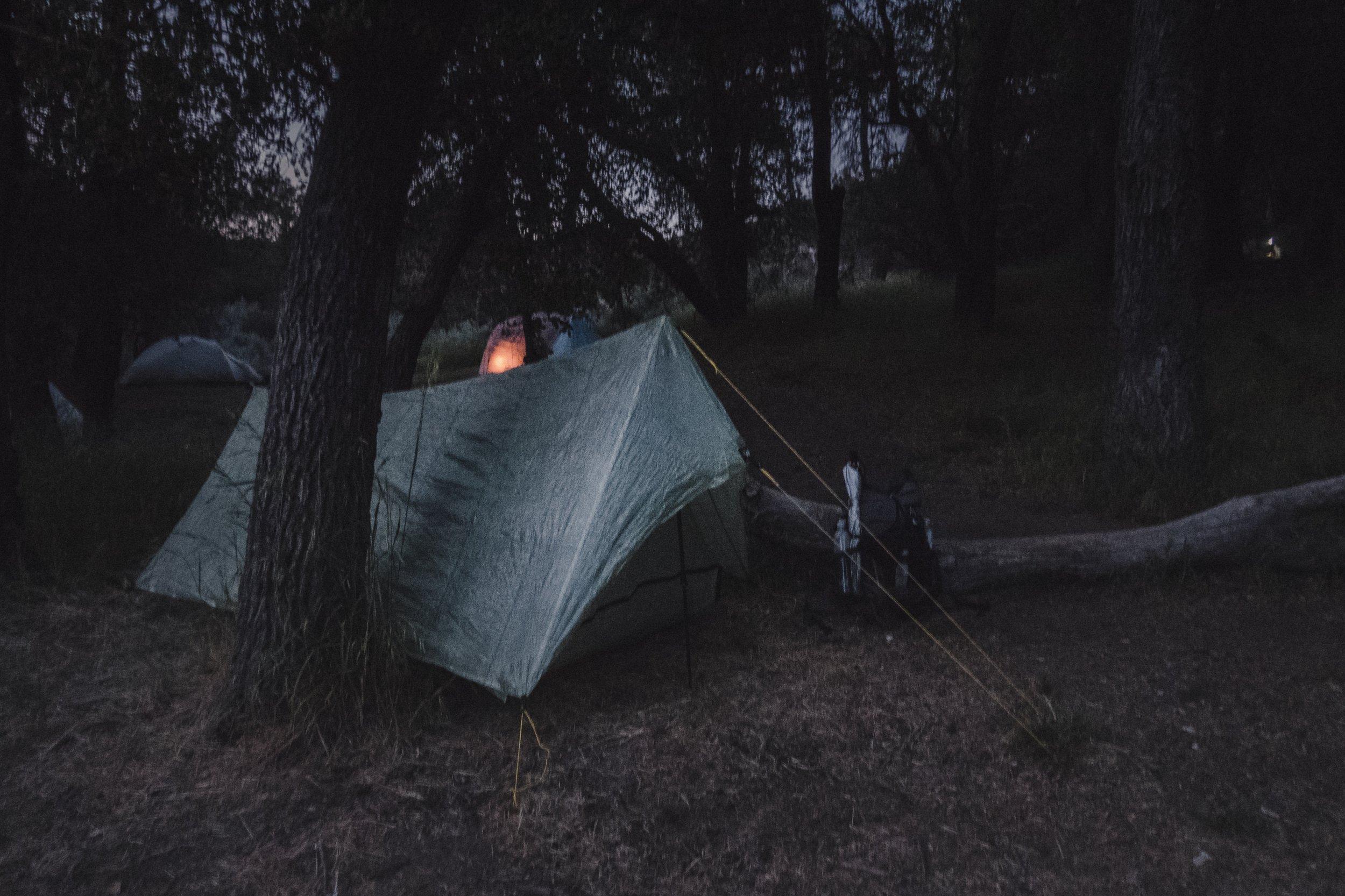 My camp at Fred Canyon