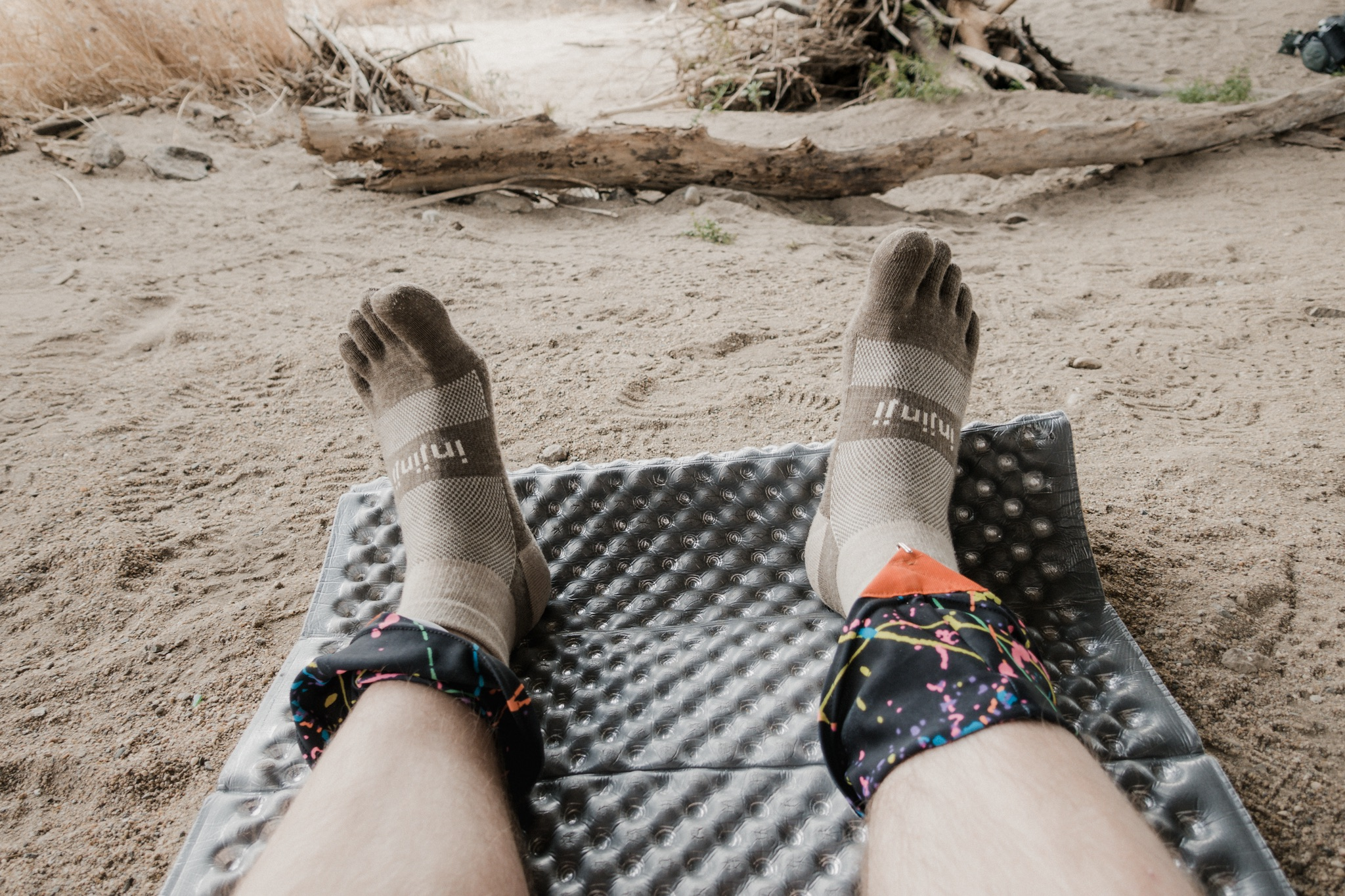 Airing out my new Injinji socks.