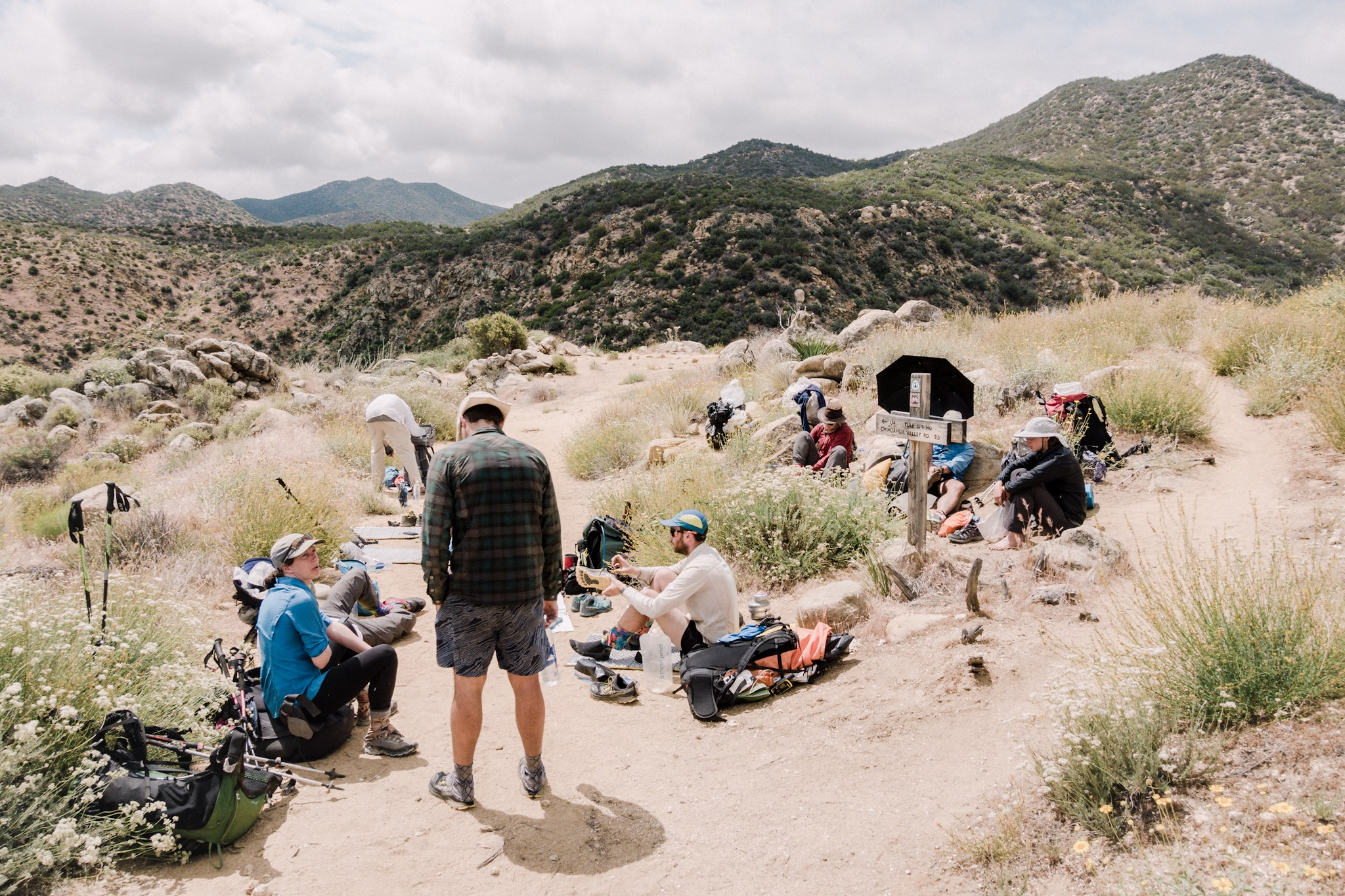 Trail gathering.