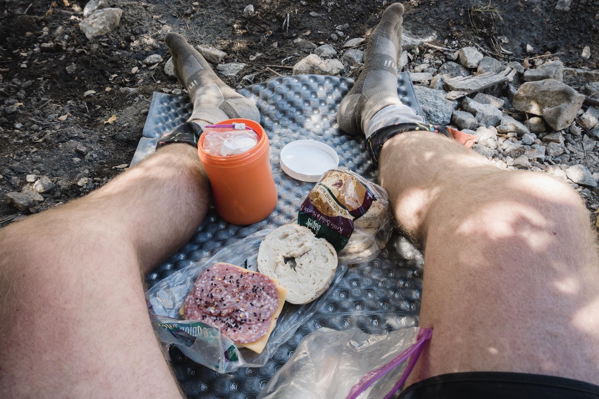 Hiker lunch.