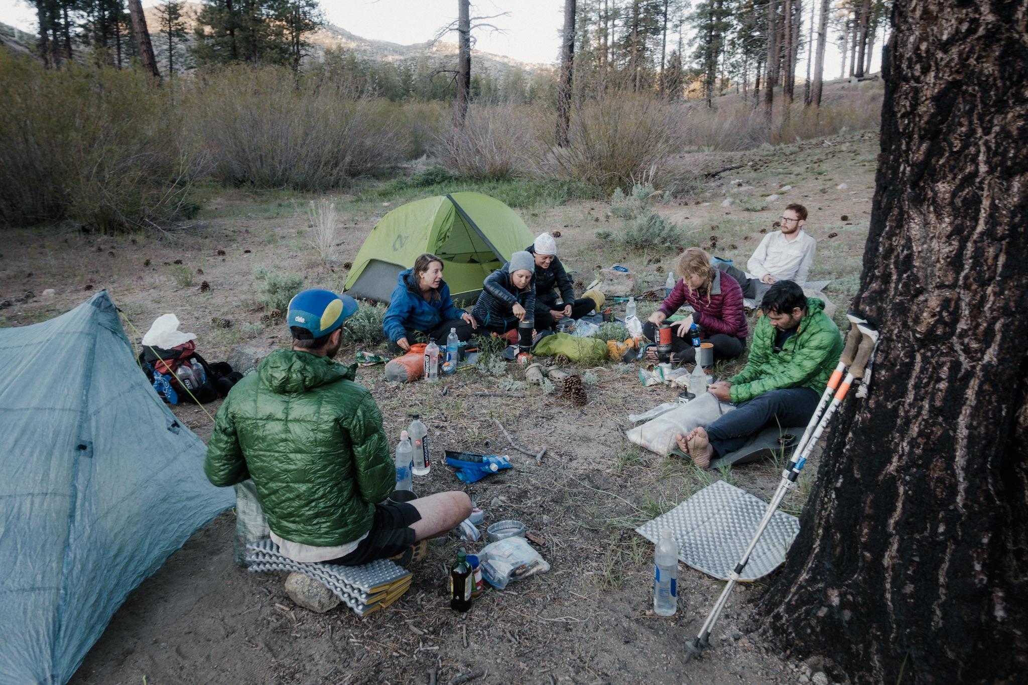 Dinner party at hiker village.