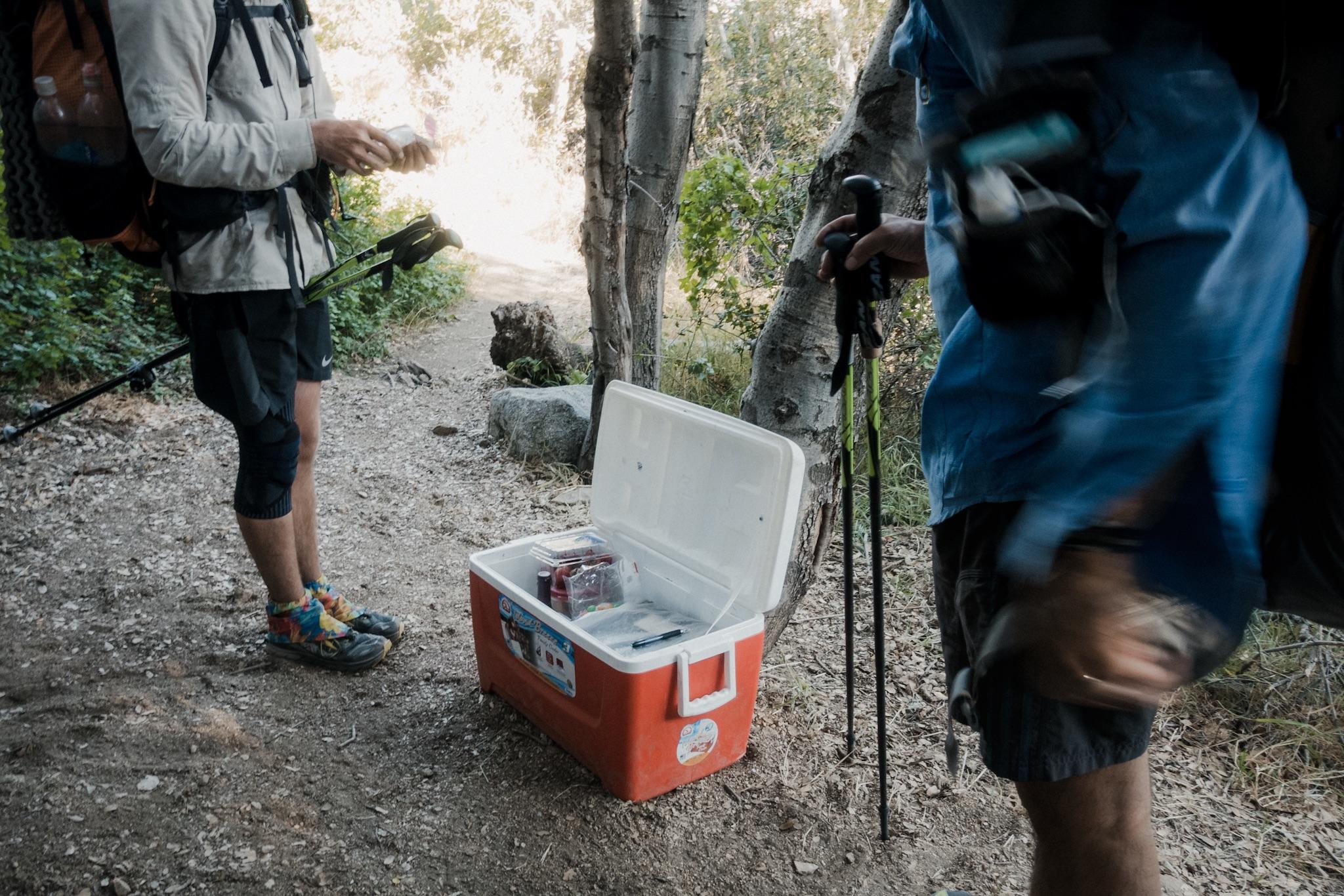 Trail magic.