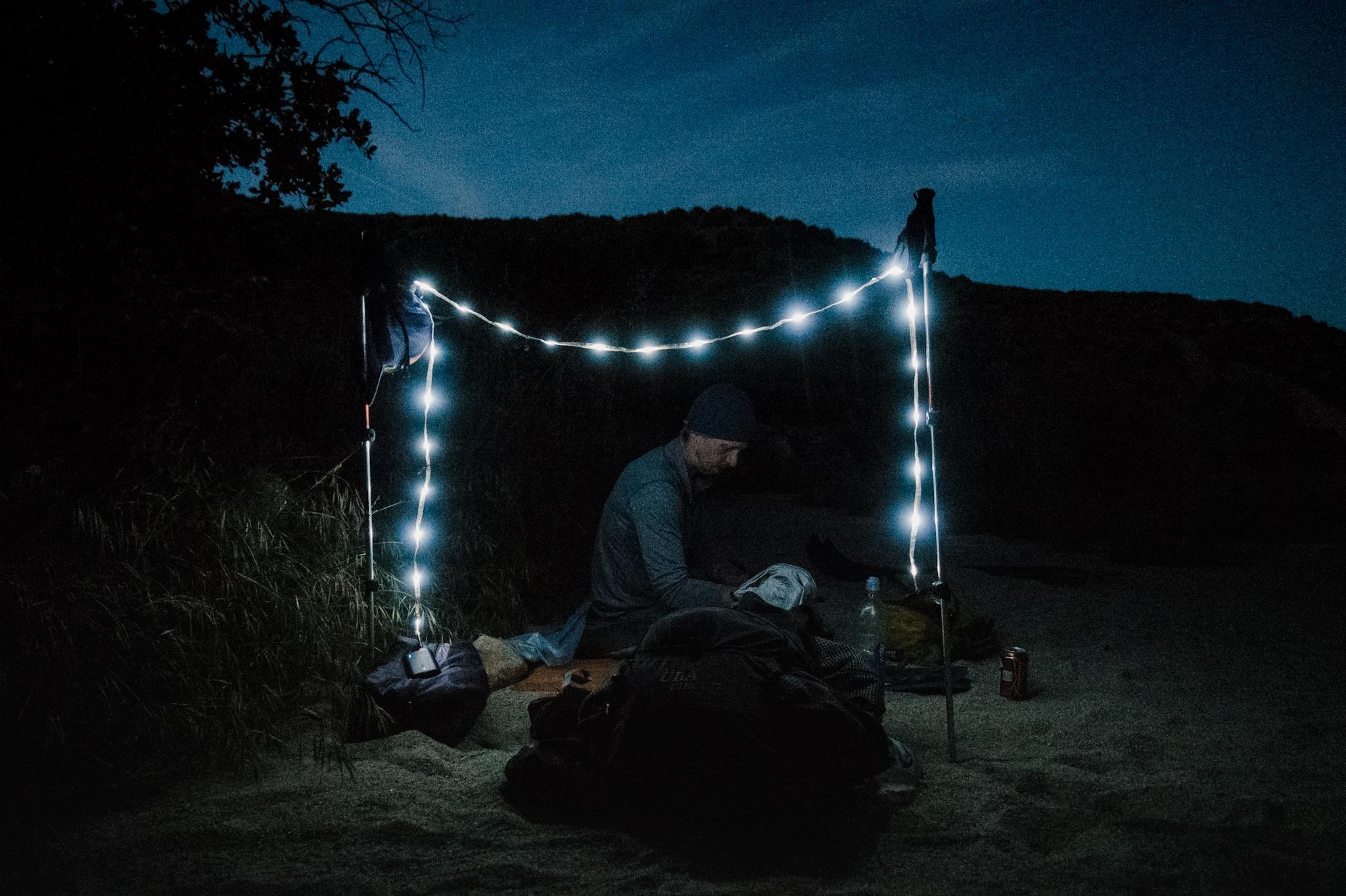 Queso's nightlight setup.