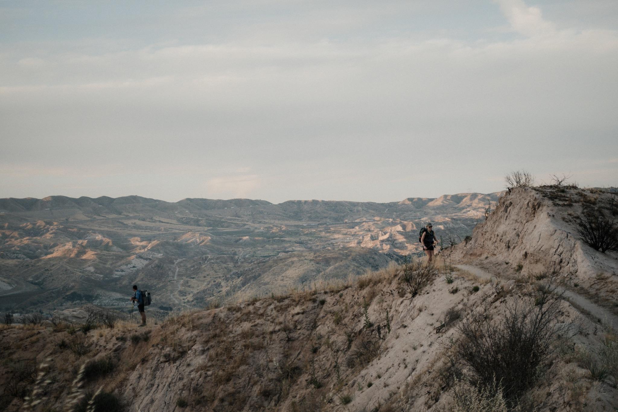 Blis and Sunshine on a ridge line.