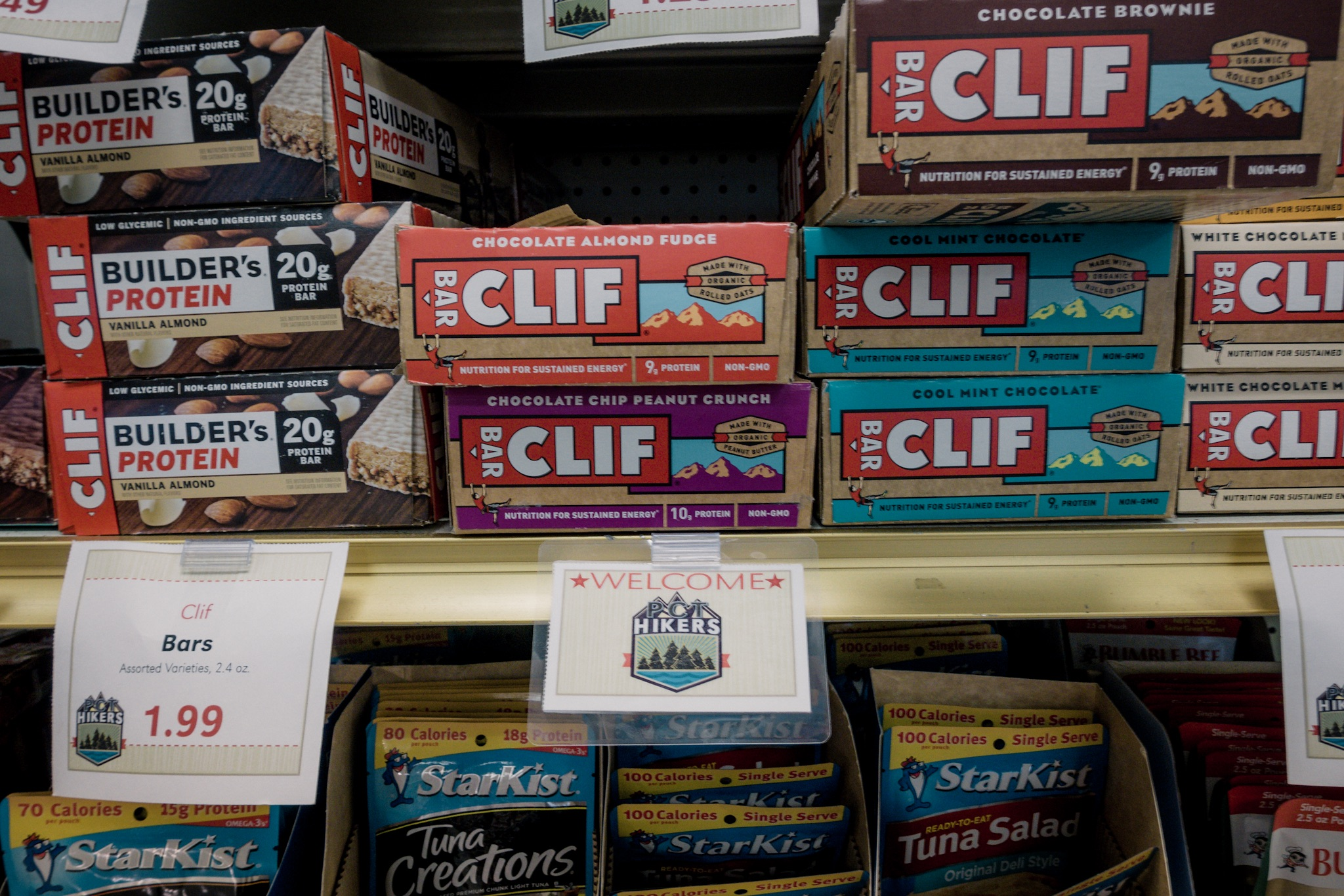Clif bars for PCT hikers.