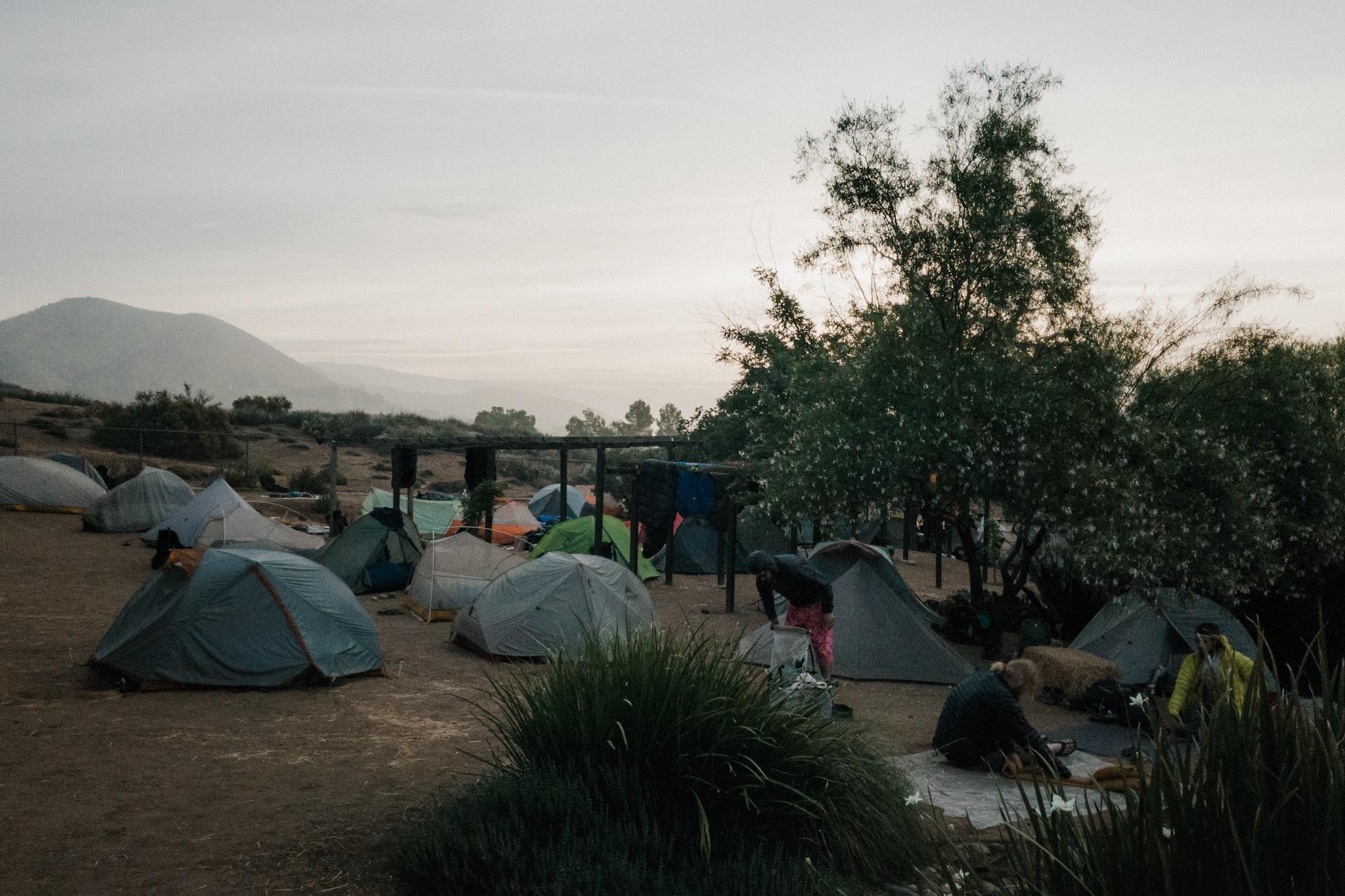 Tents in Hiker Heaven.