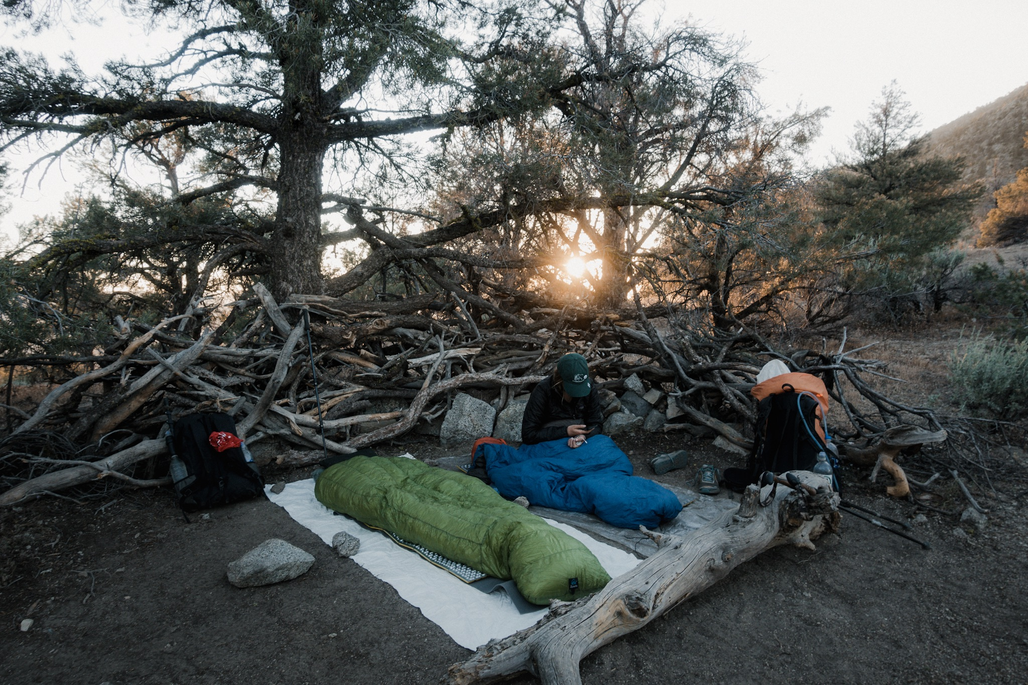 Our camp setup for the night.