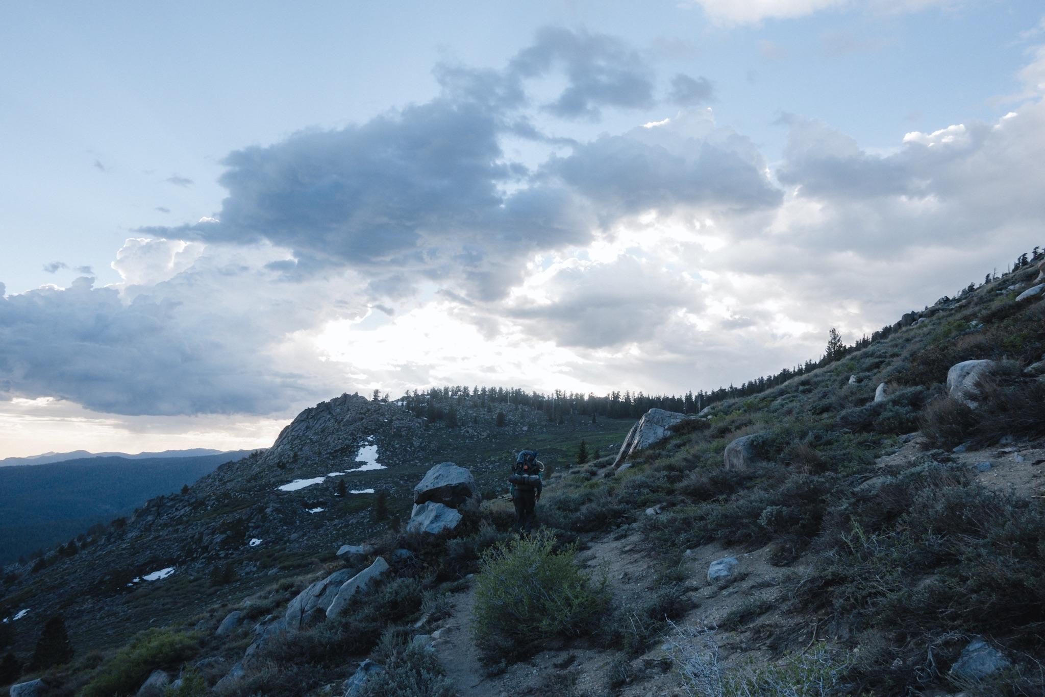 Last climb towards the pass.