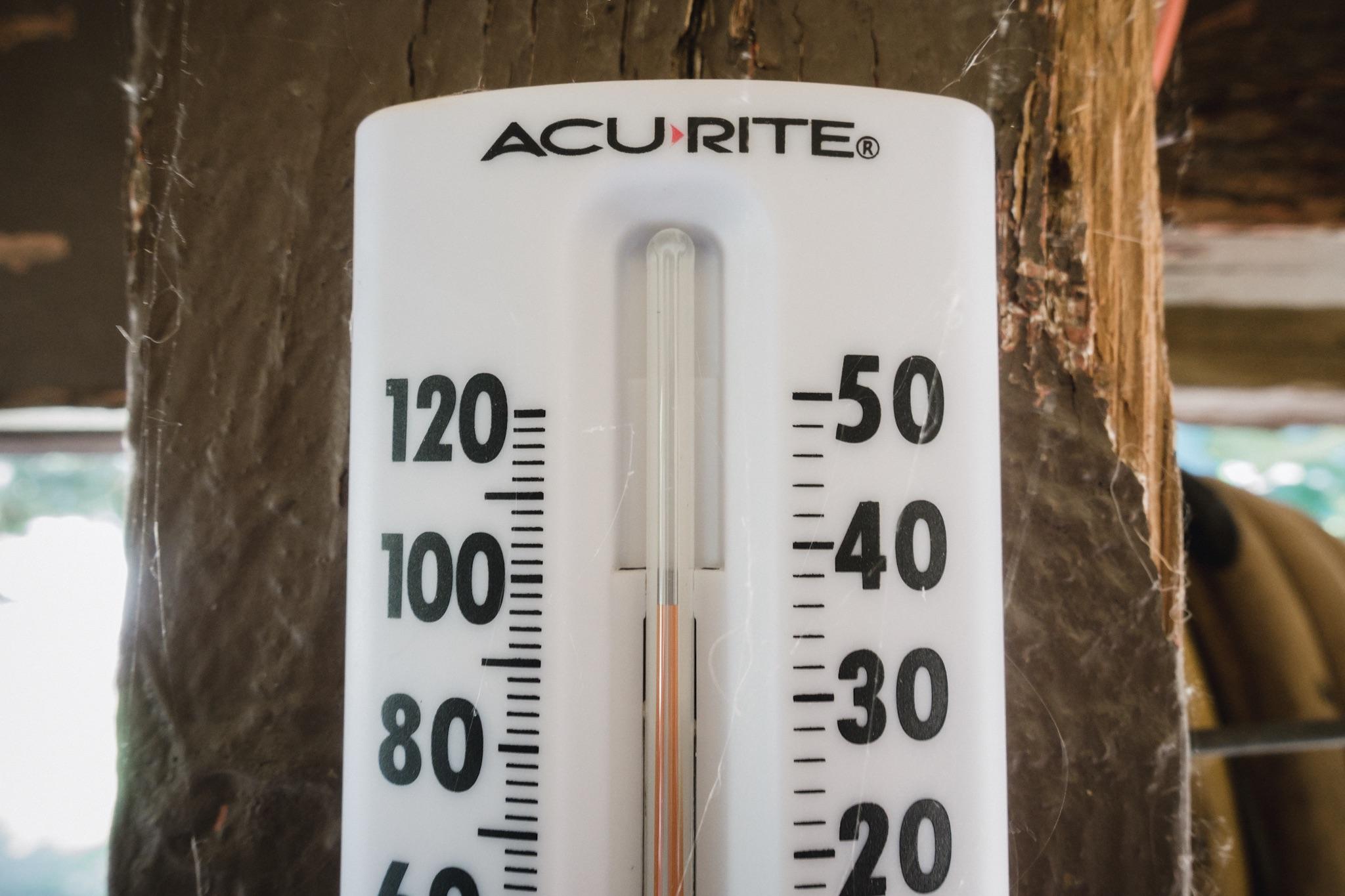 Temperature in shade.