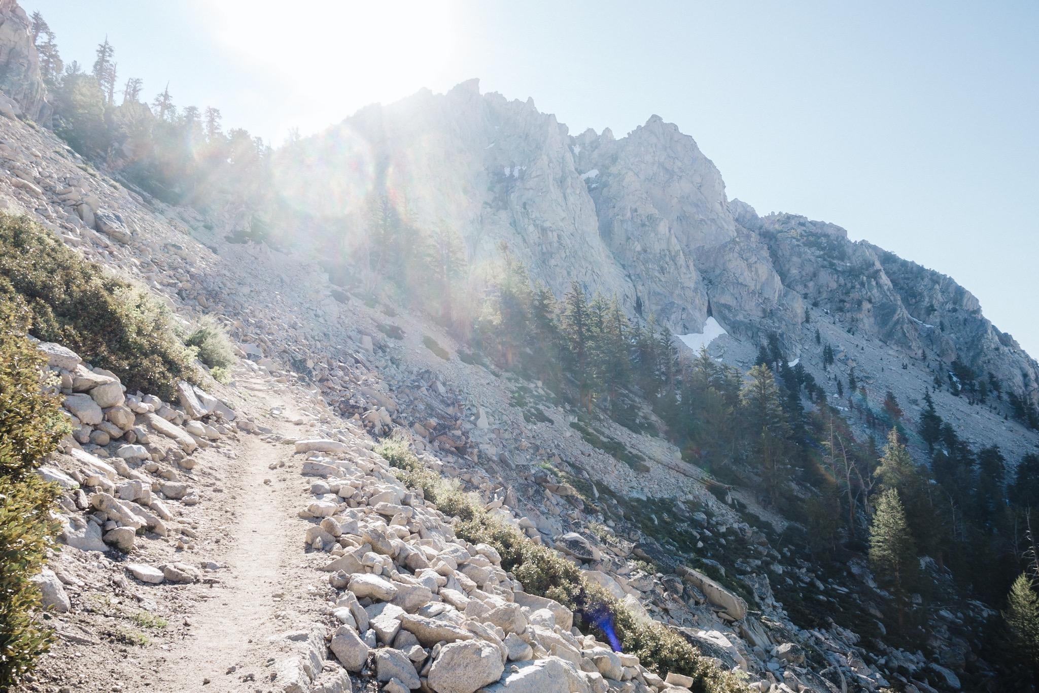Morning climb.