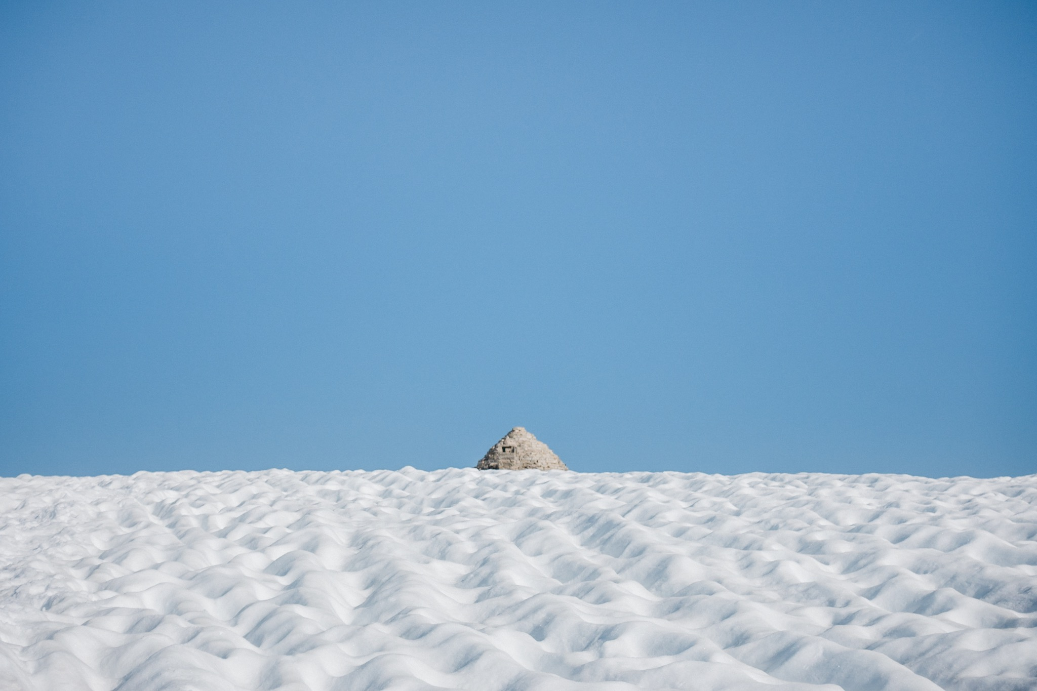 The sweet sight of the Muir Hut.