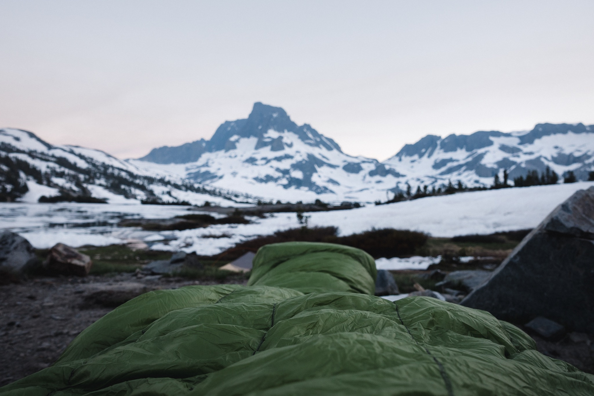 View from my sleeping bag.