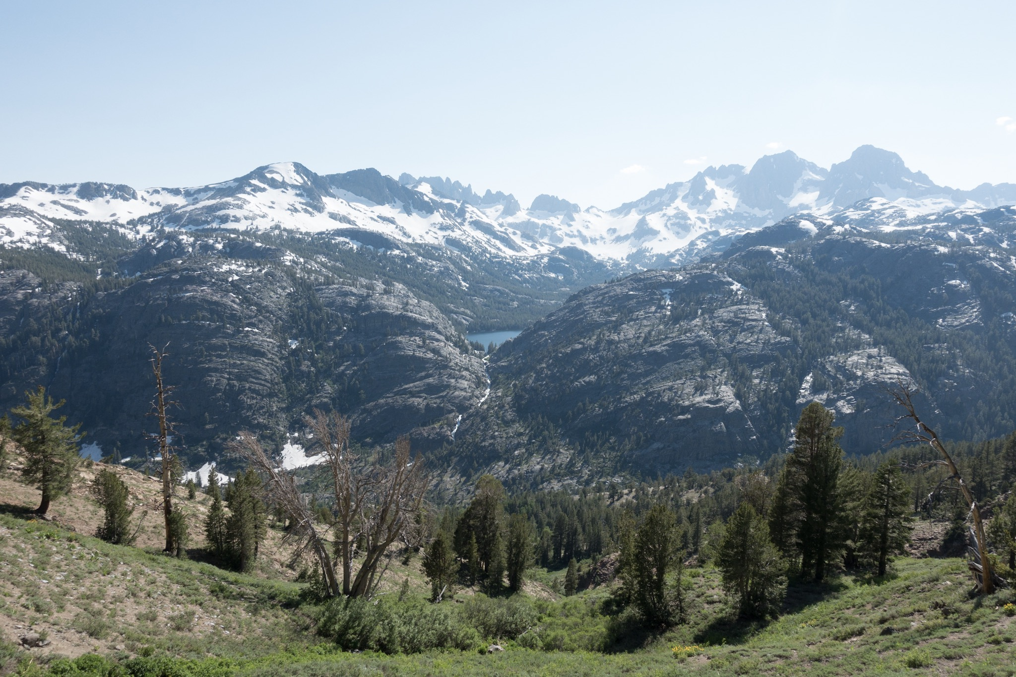 Looking over the valley to where JMT goes.