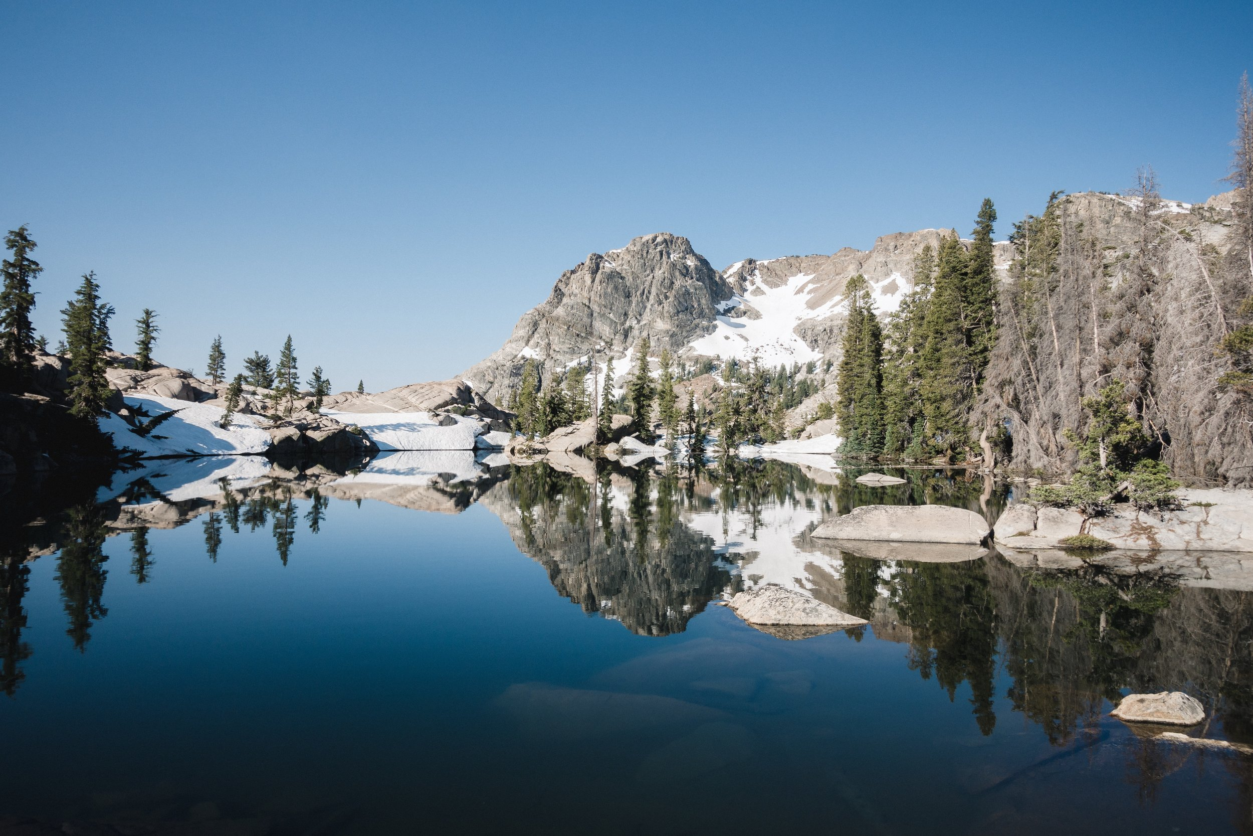 Beautiful alpine lake.