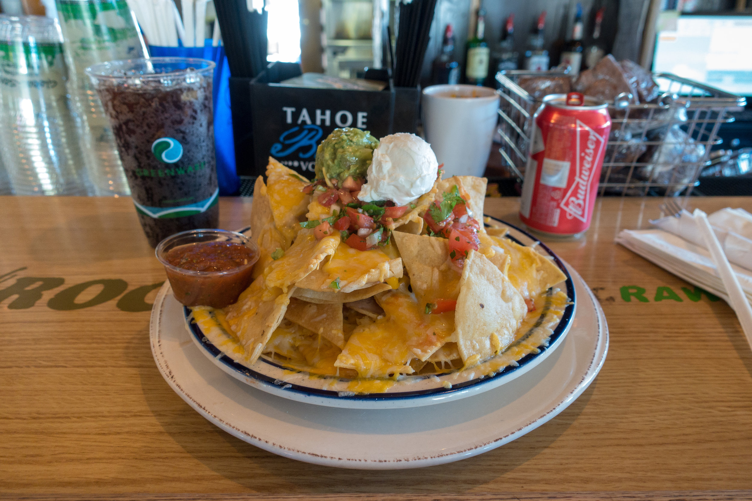 The mountain of nachos.