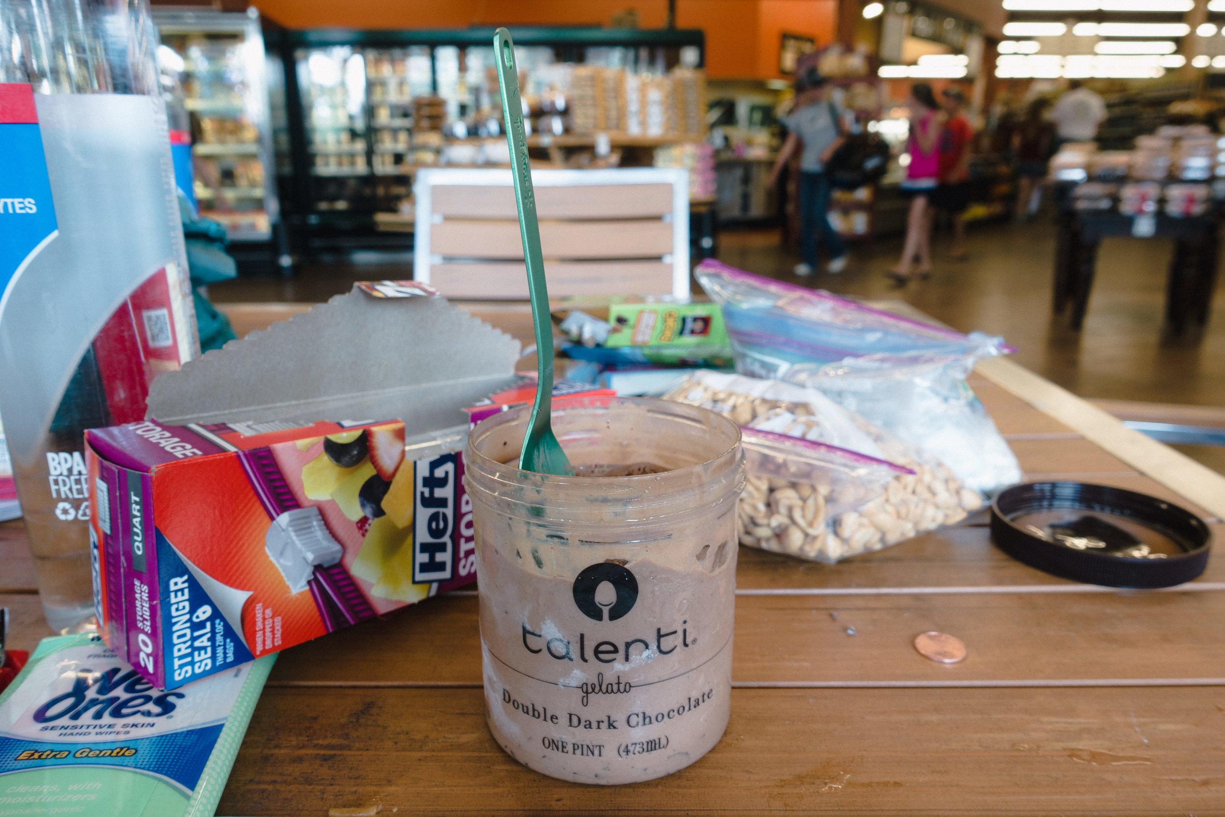 Getting a new Talenti jar.