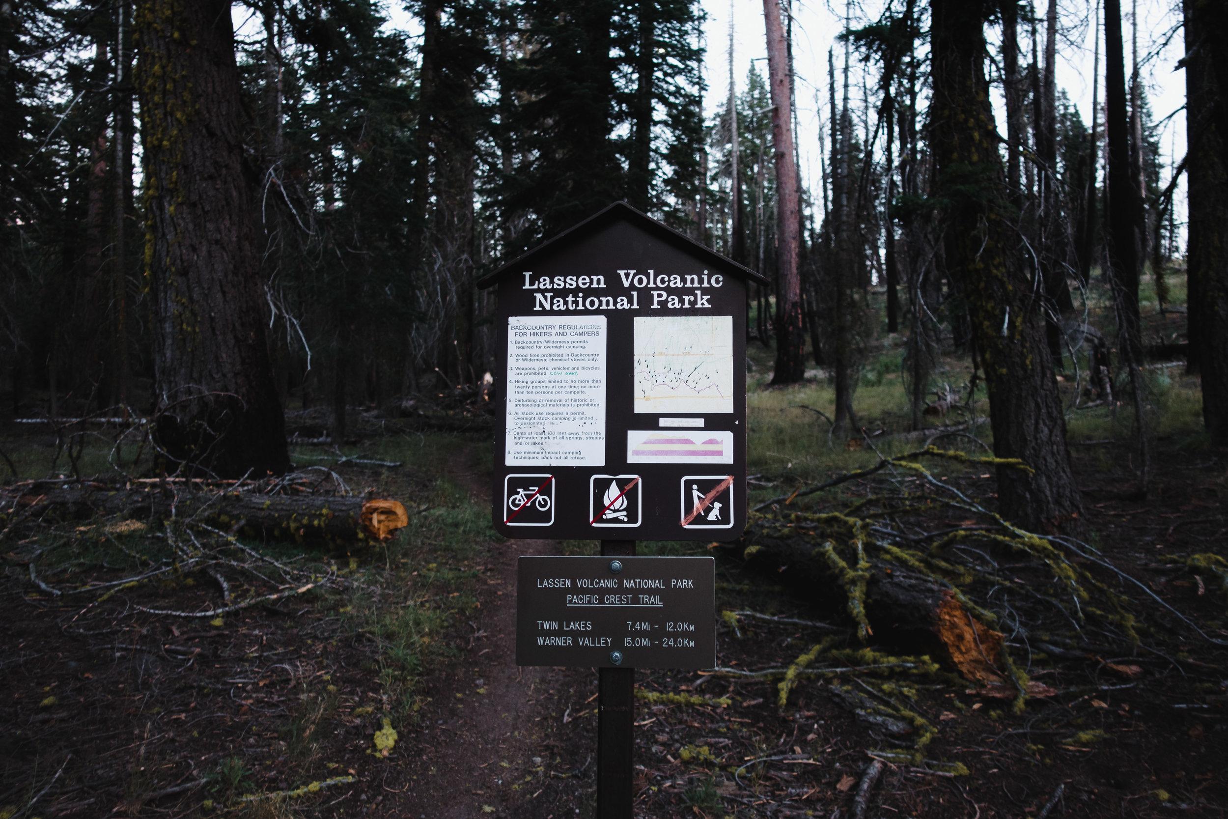 Lassen National Park border.